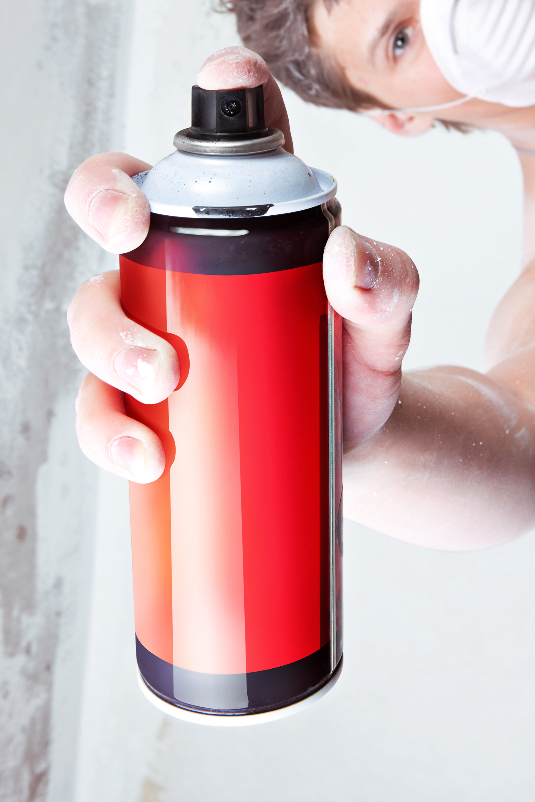 Spray can in hand photo