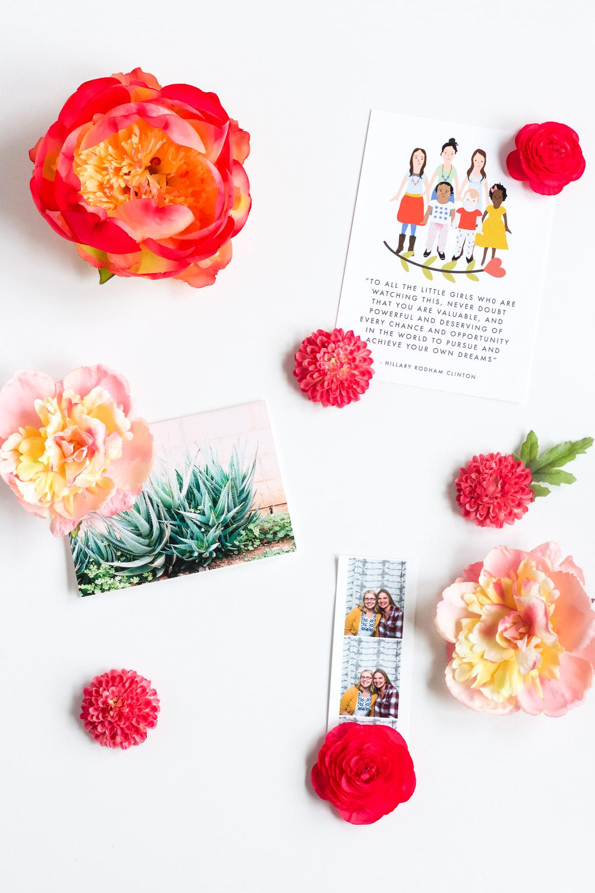 DIY Spring Flower Magnets - Lulu the Baker