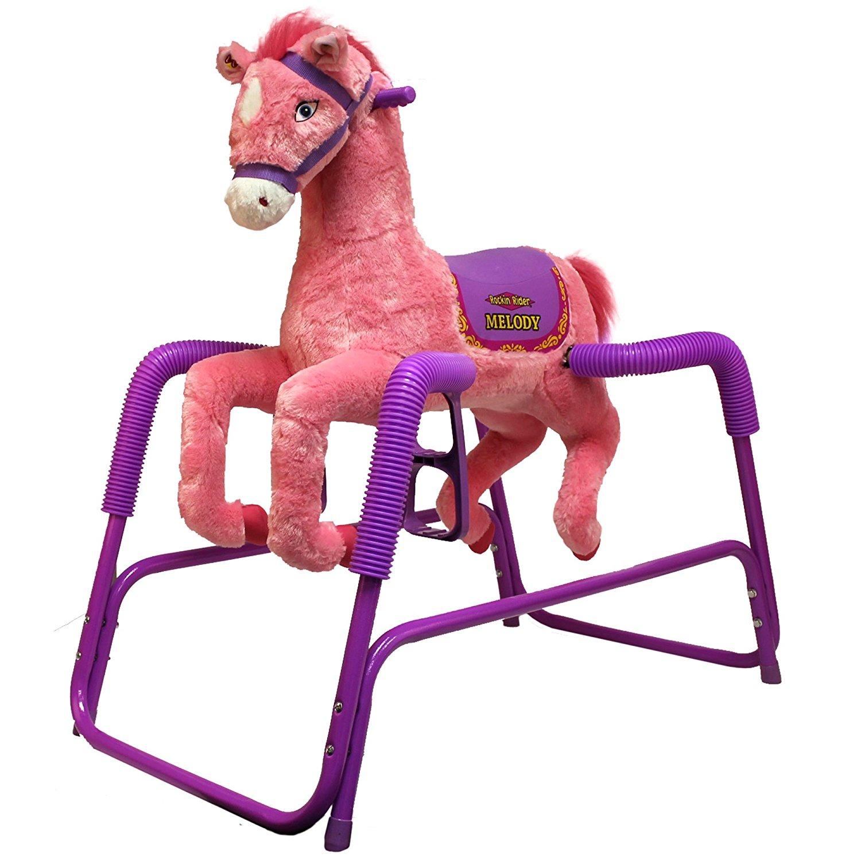 Amazon.com: Rockin' Rider Melody Plush Spring Horse: Toys & Games