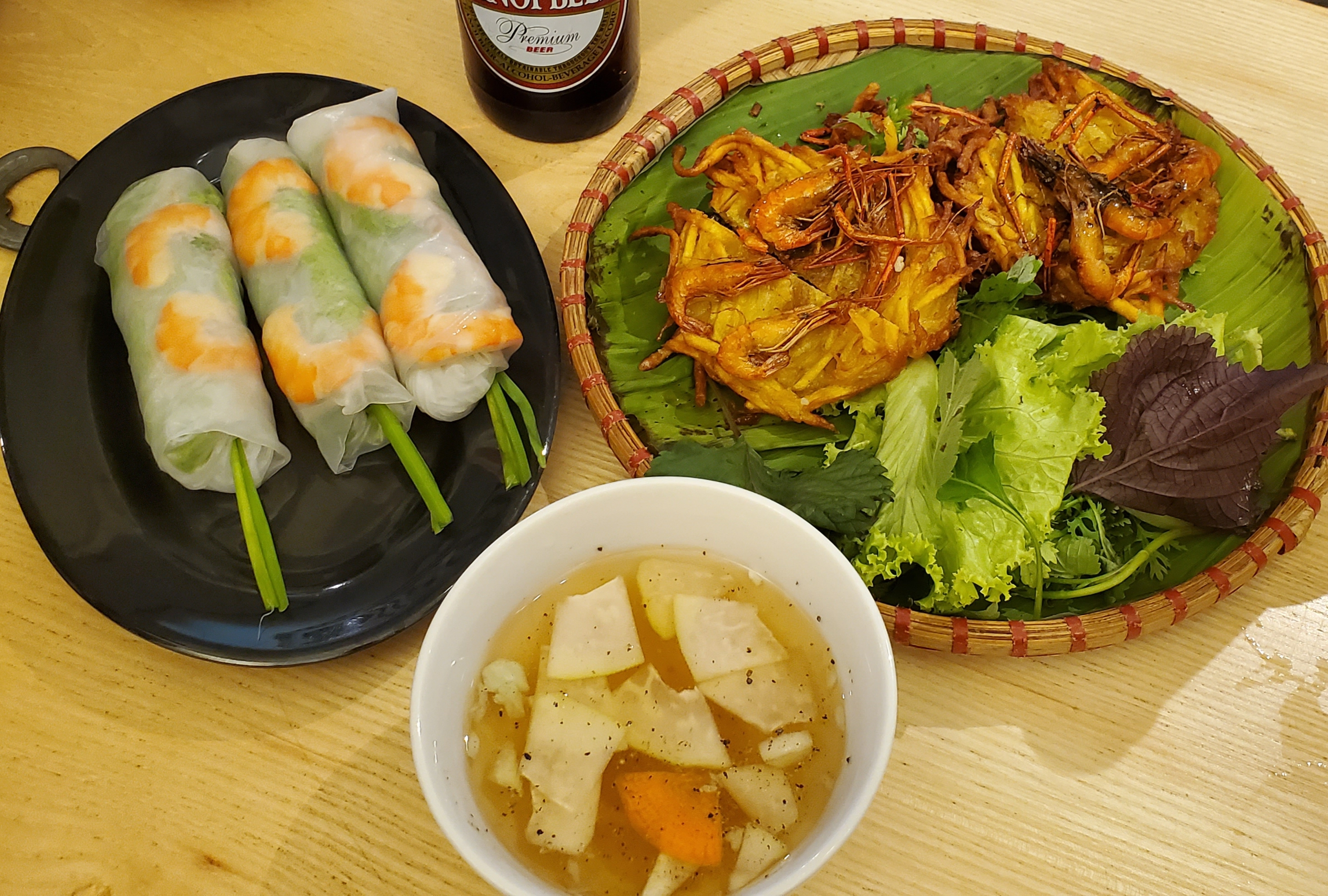 Spring rolls & shrimps  photo