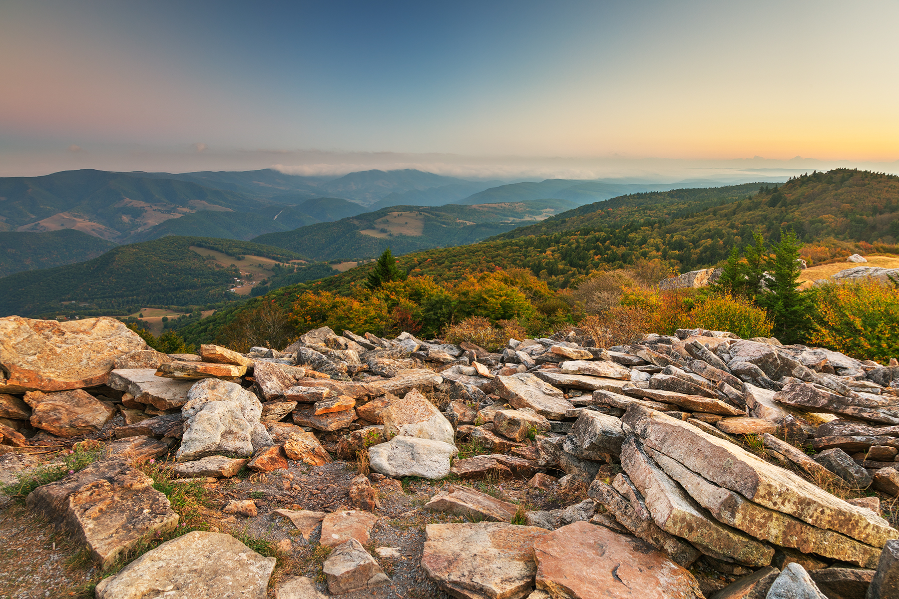Spruce Knob Mountain Sunset - HDR, Raw, Shadow, Shades, Shade, HQ Photo