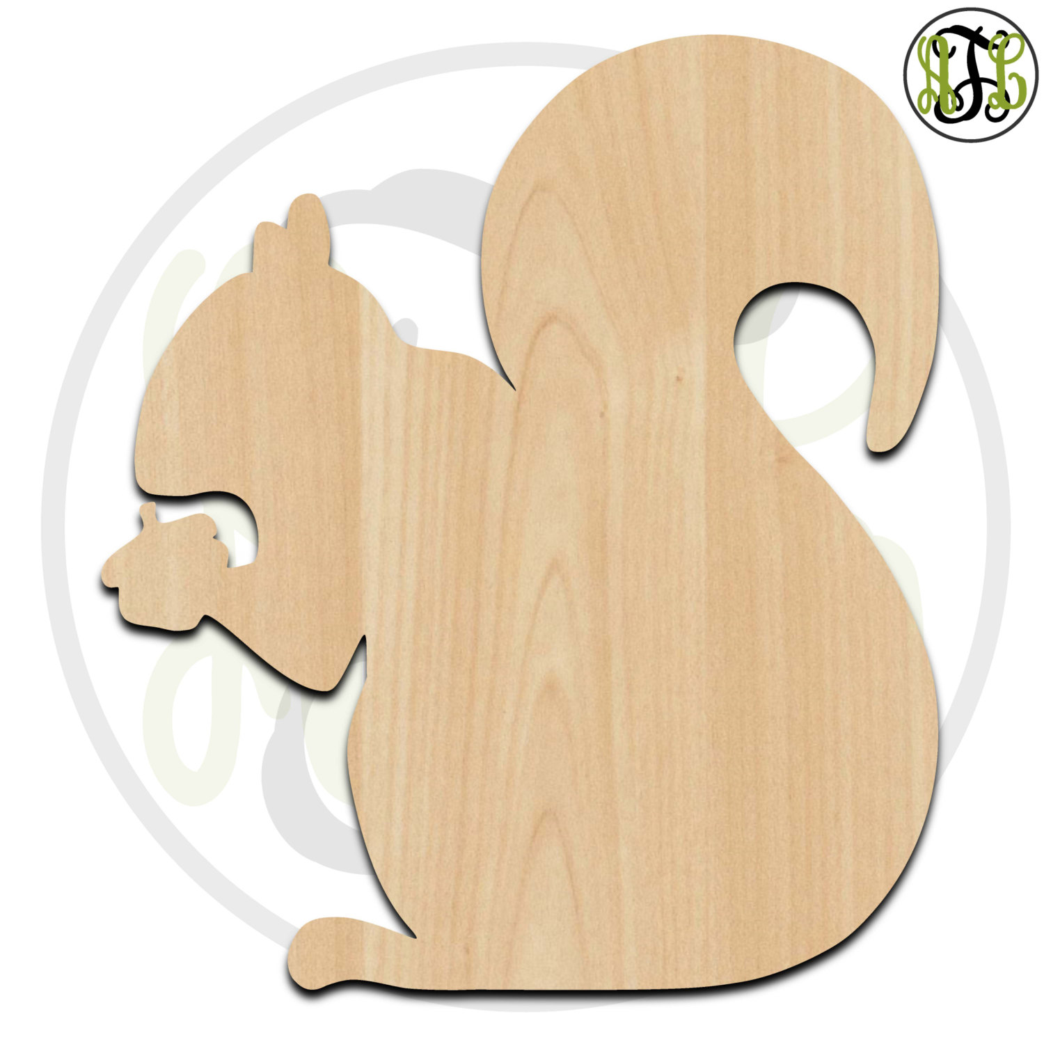 Squirrel with Nut- 220009- Cutout, unfinished, wood cutout, wood ...