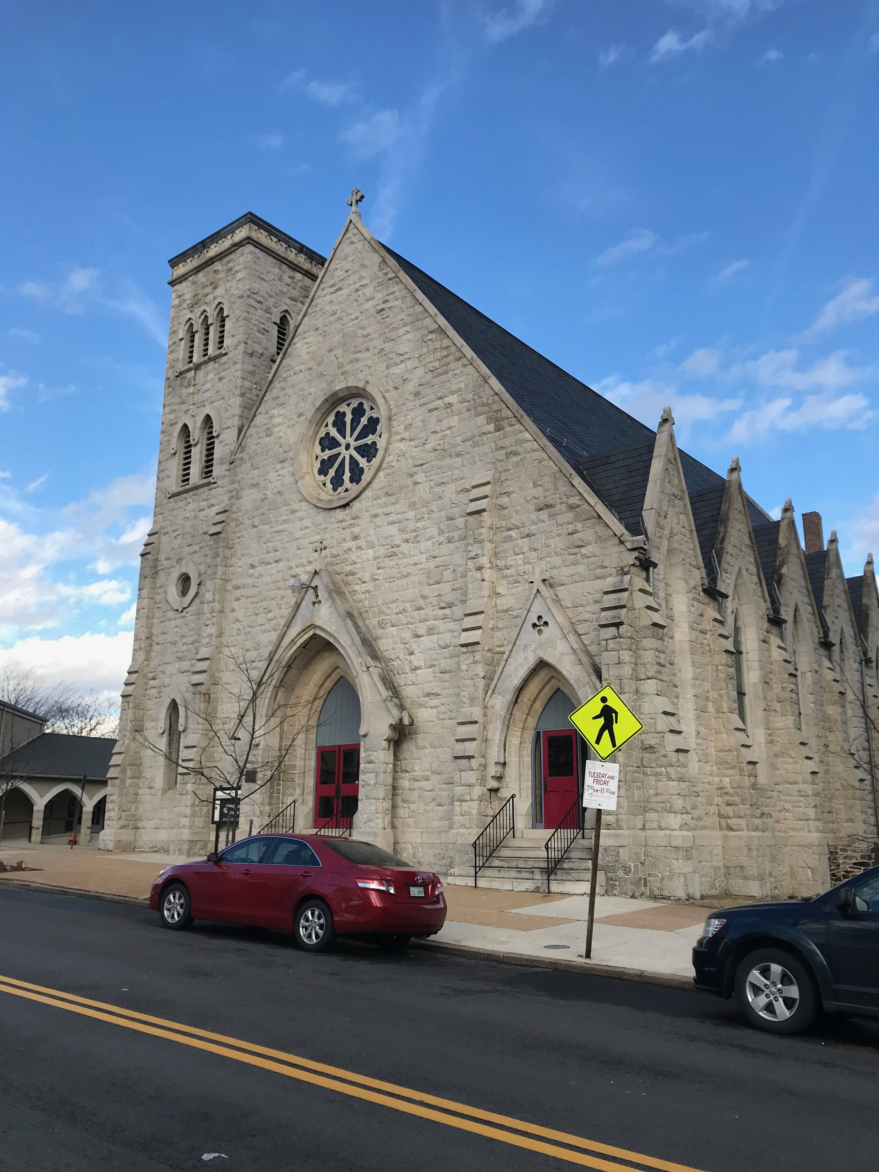 St. James' Episcopal Church/Former Episcopal Church of the Ascension (1867; Hutton & Murdoch, architects), 1020 West W. Avenue, Baltimore, MD 21217, Architecture, Baltimore, Building, Car, HQ Photo
