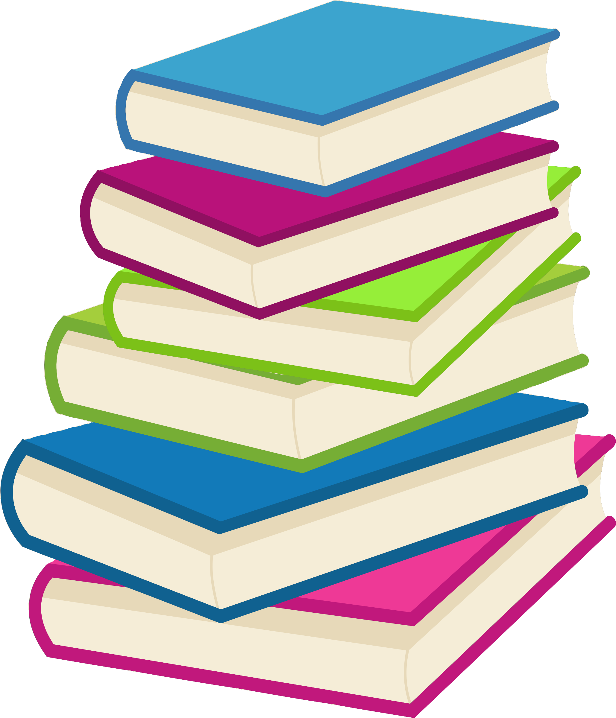 Clipart - Stack of books 2