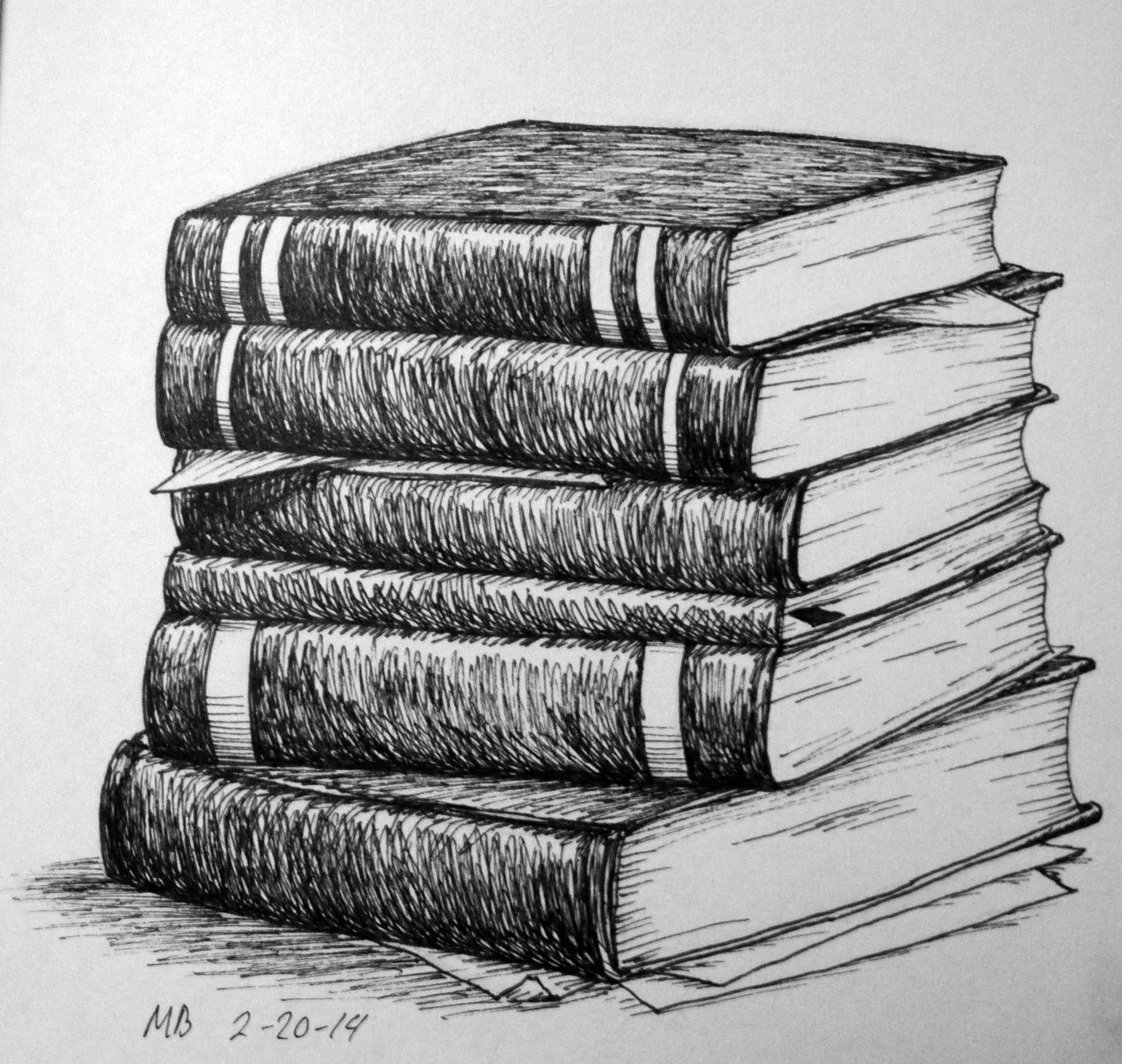 stack of books pencil drawing - Google Search | Still Life Ideas ...