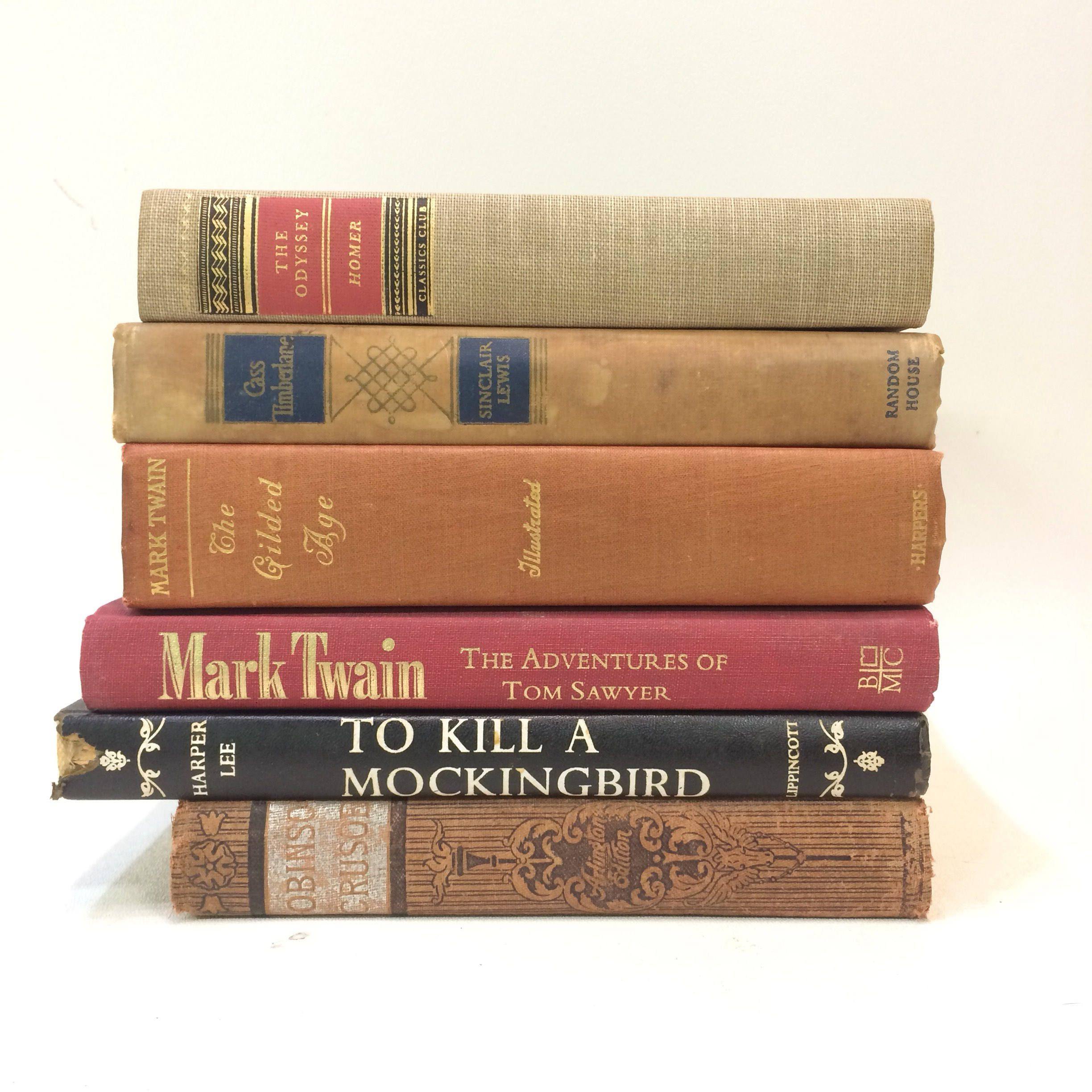 stack books hardbound brown printed classic hardcover library jooinn number novels