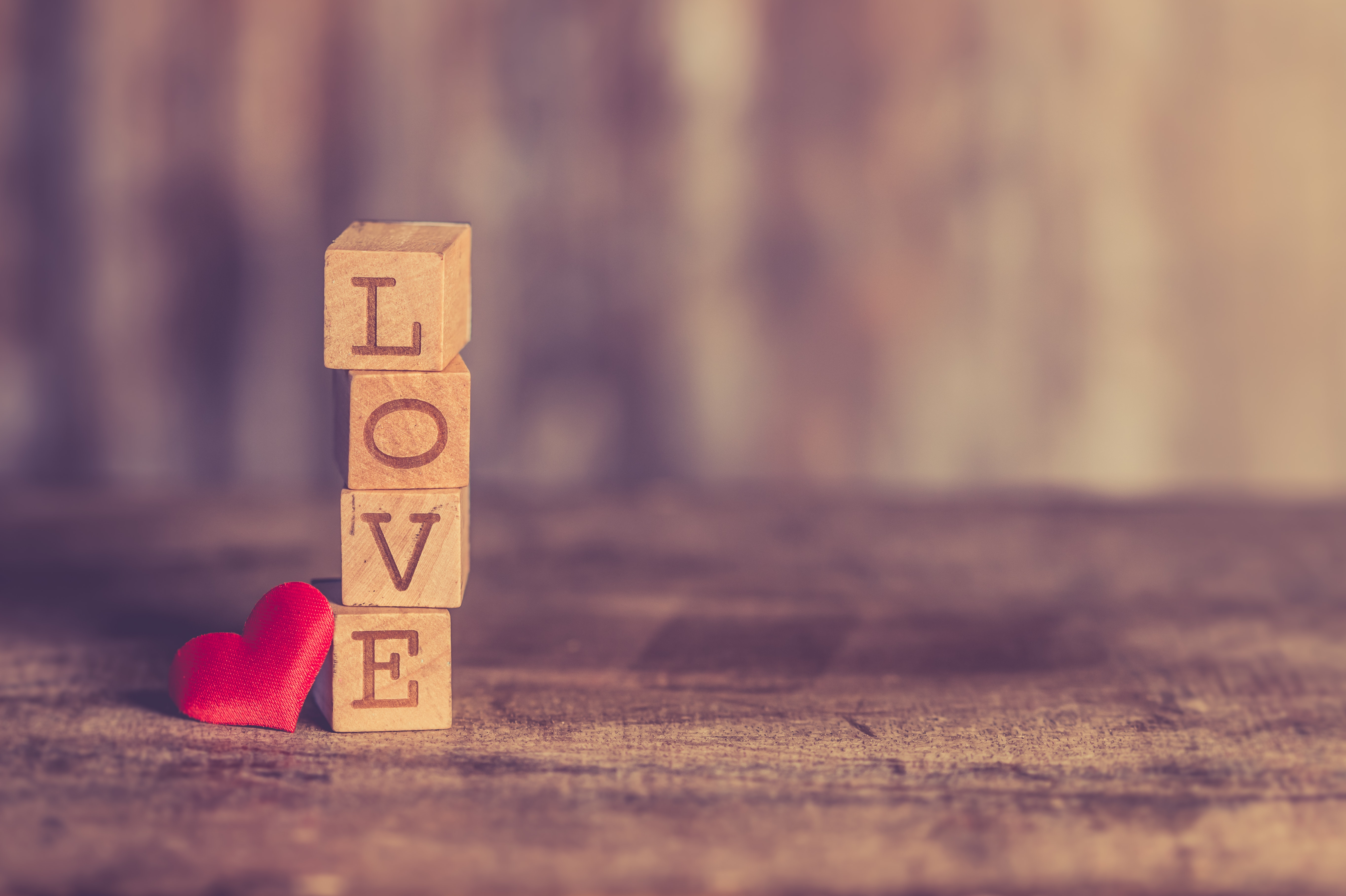 Stack of Love Wooden Blocks, Art, Wood, Vintage, Texture, HQ Photo