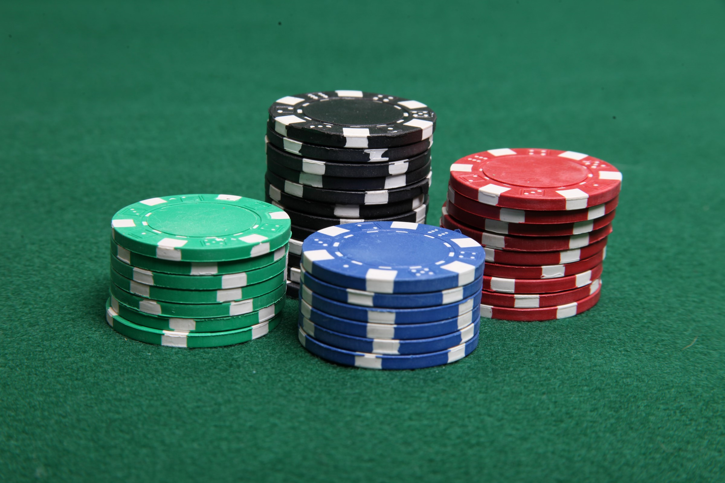 Stacks of poker chips, Addiction, Bet, Black, Blue, HQ Photo