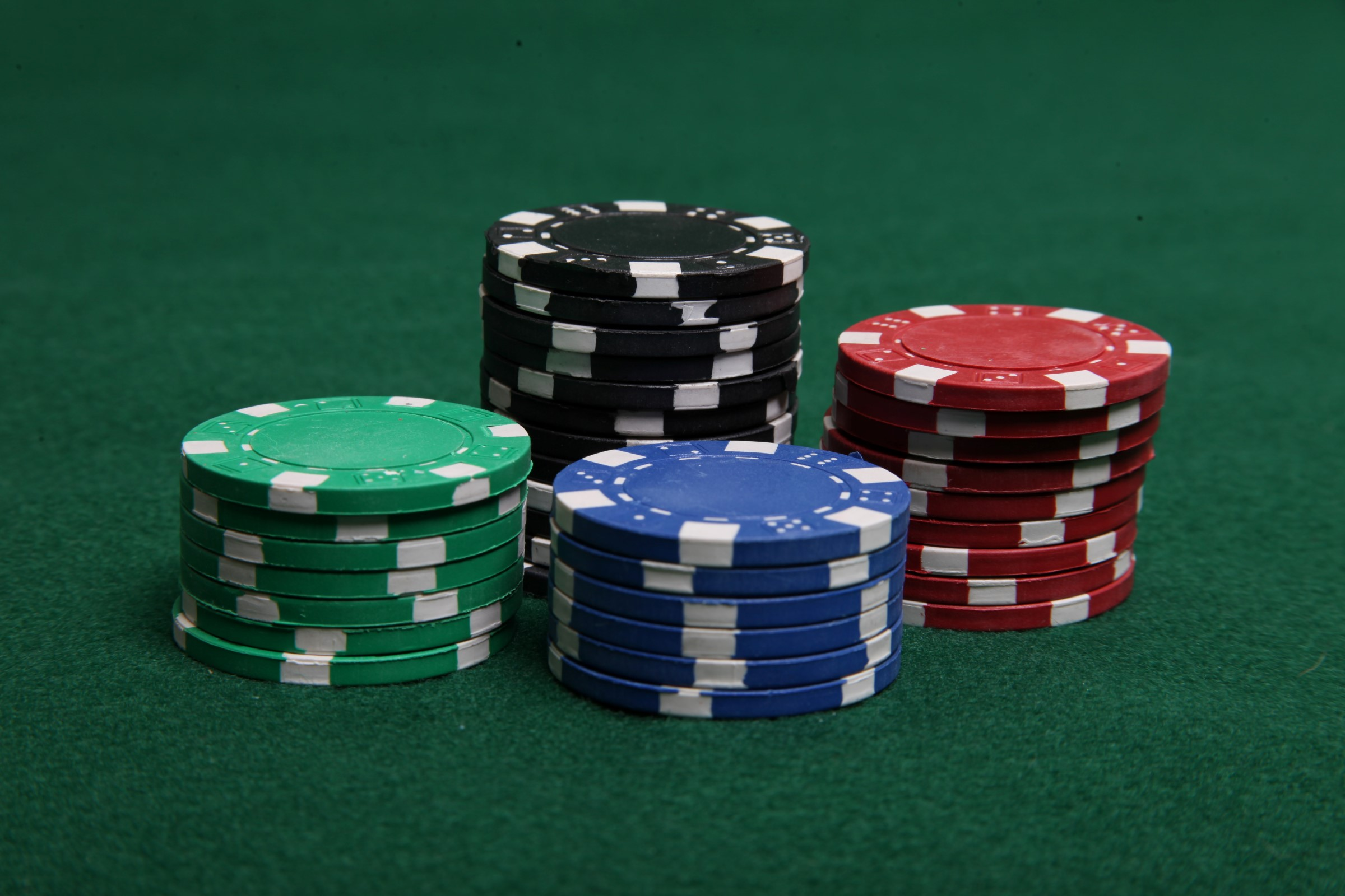 Stacks of poker chips photo