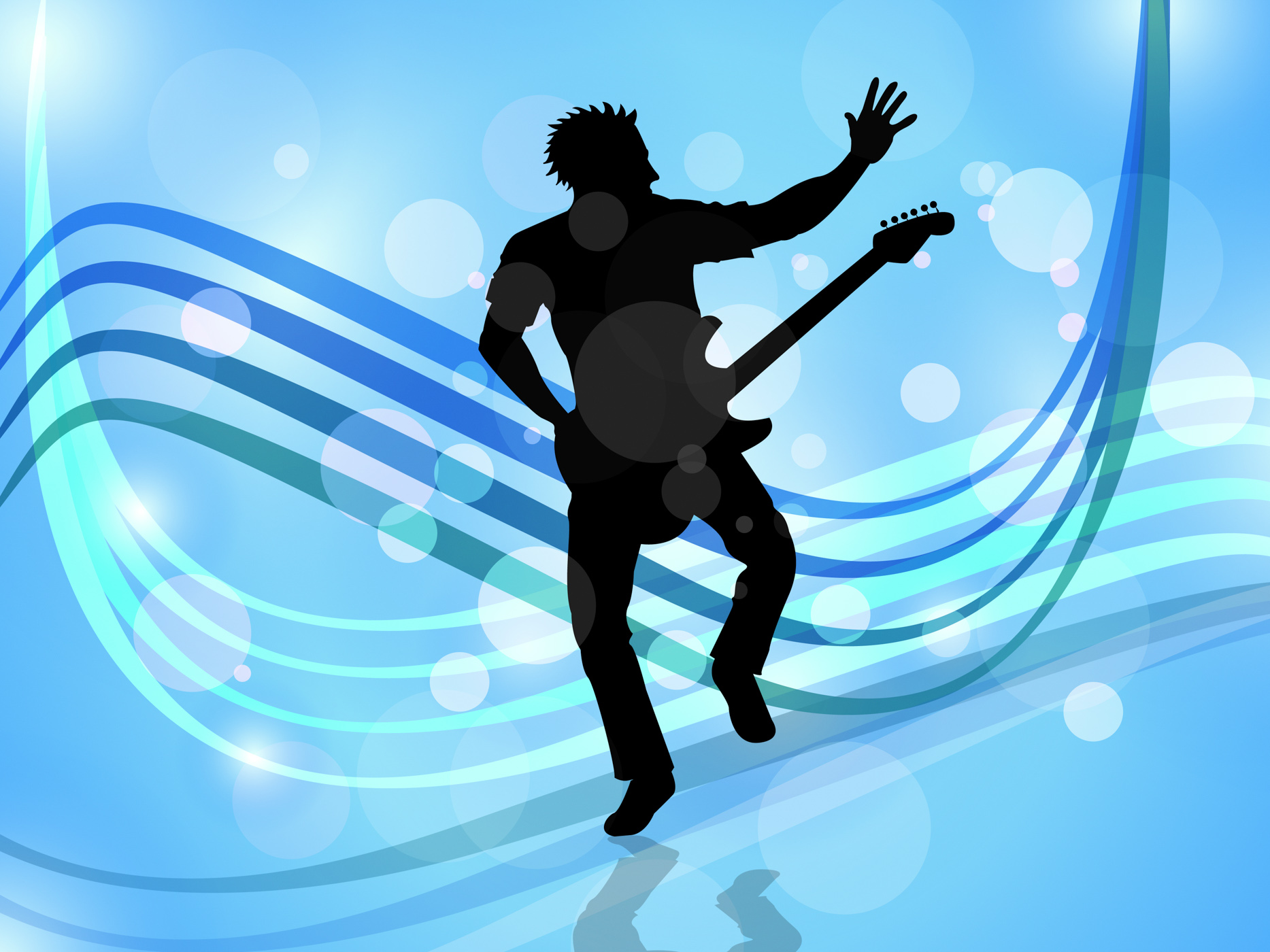 Stage music indicates live event and audio photo