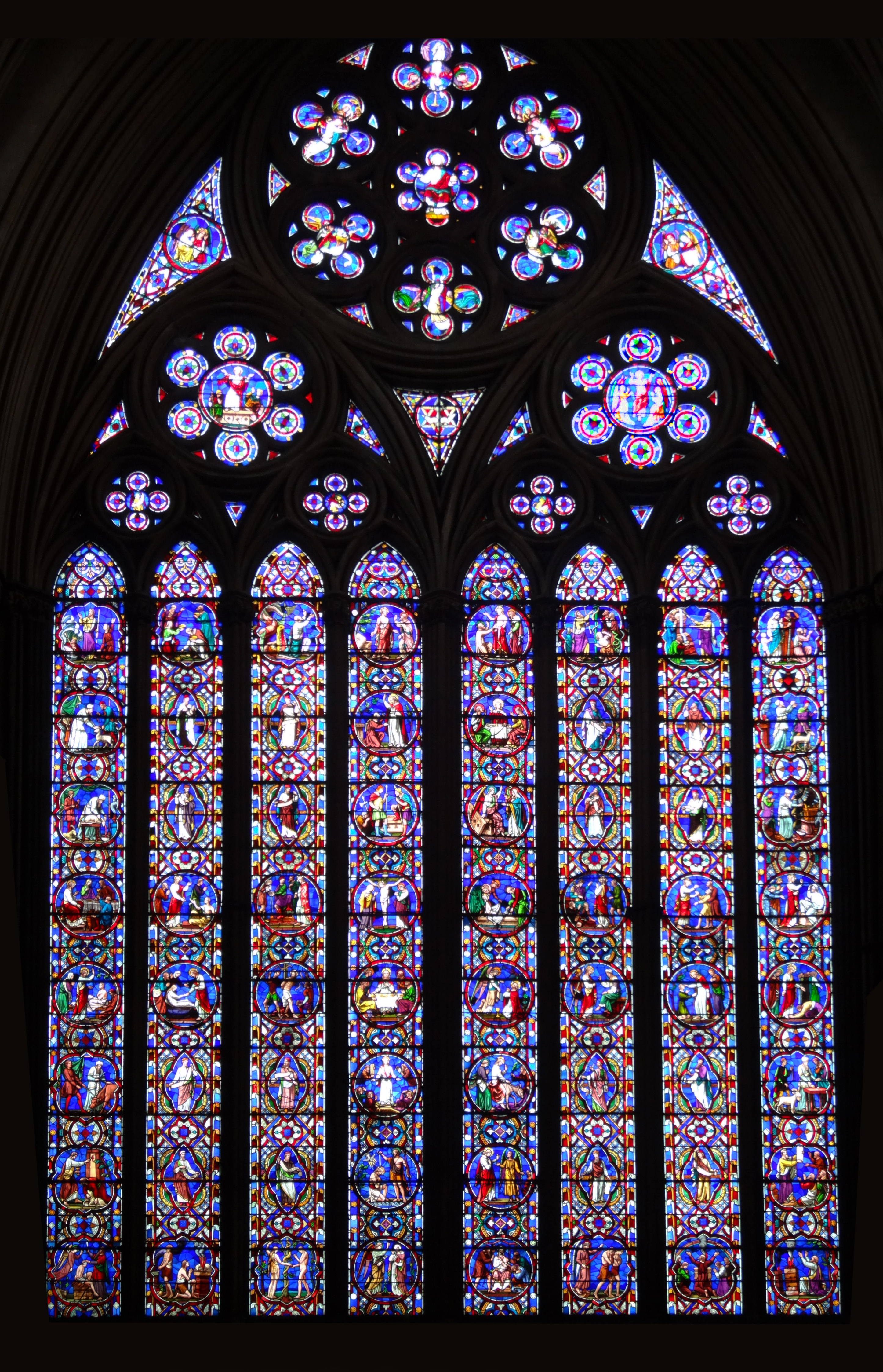 Free Photo Stained Glass Window Church Decoration