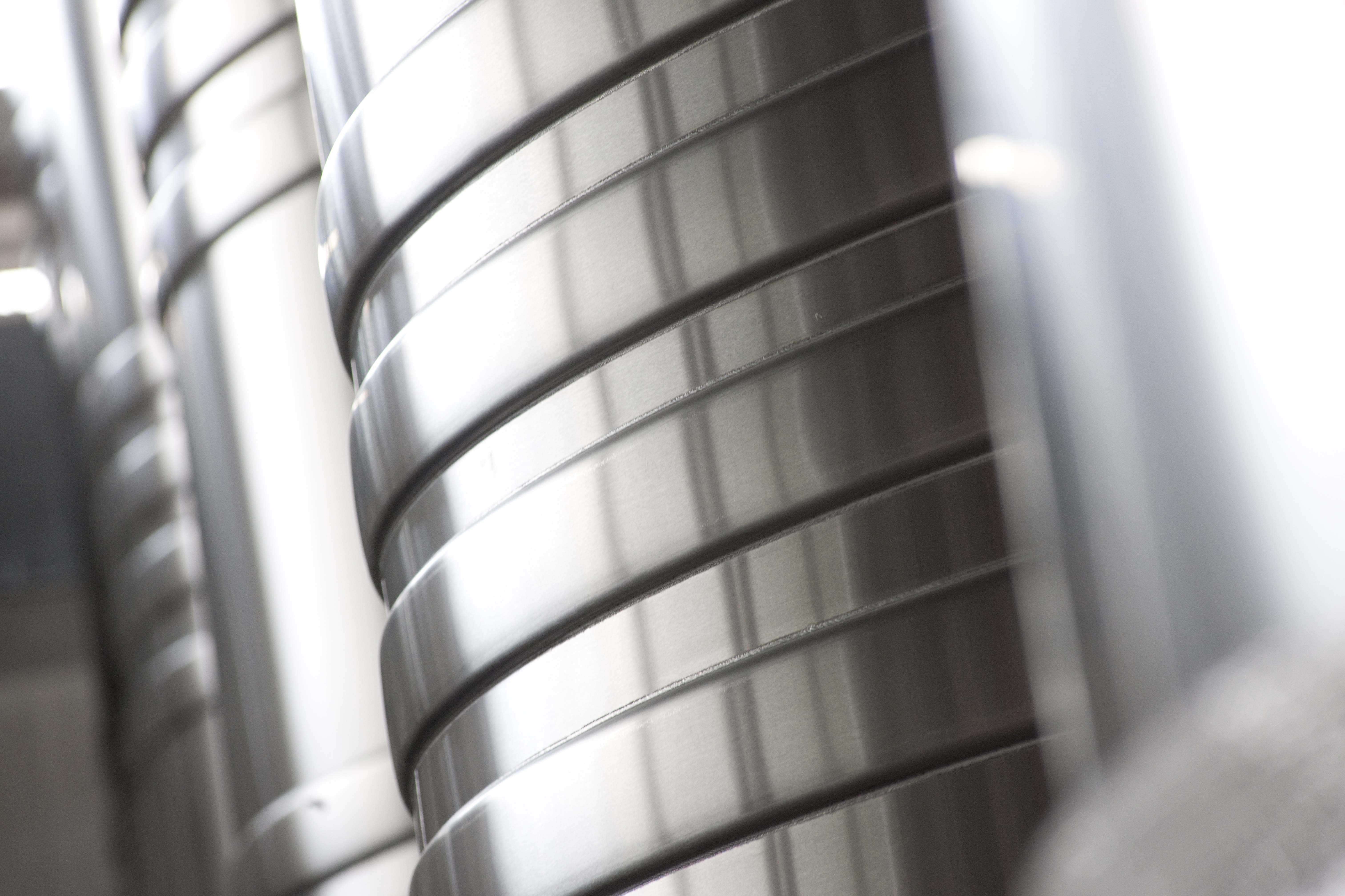 Stainless Steel Pipes, Chandon, France, Industrial, Industry, HQ Photo