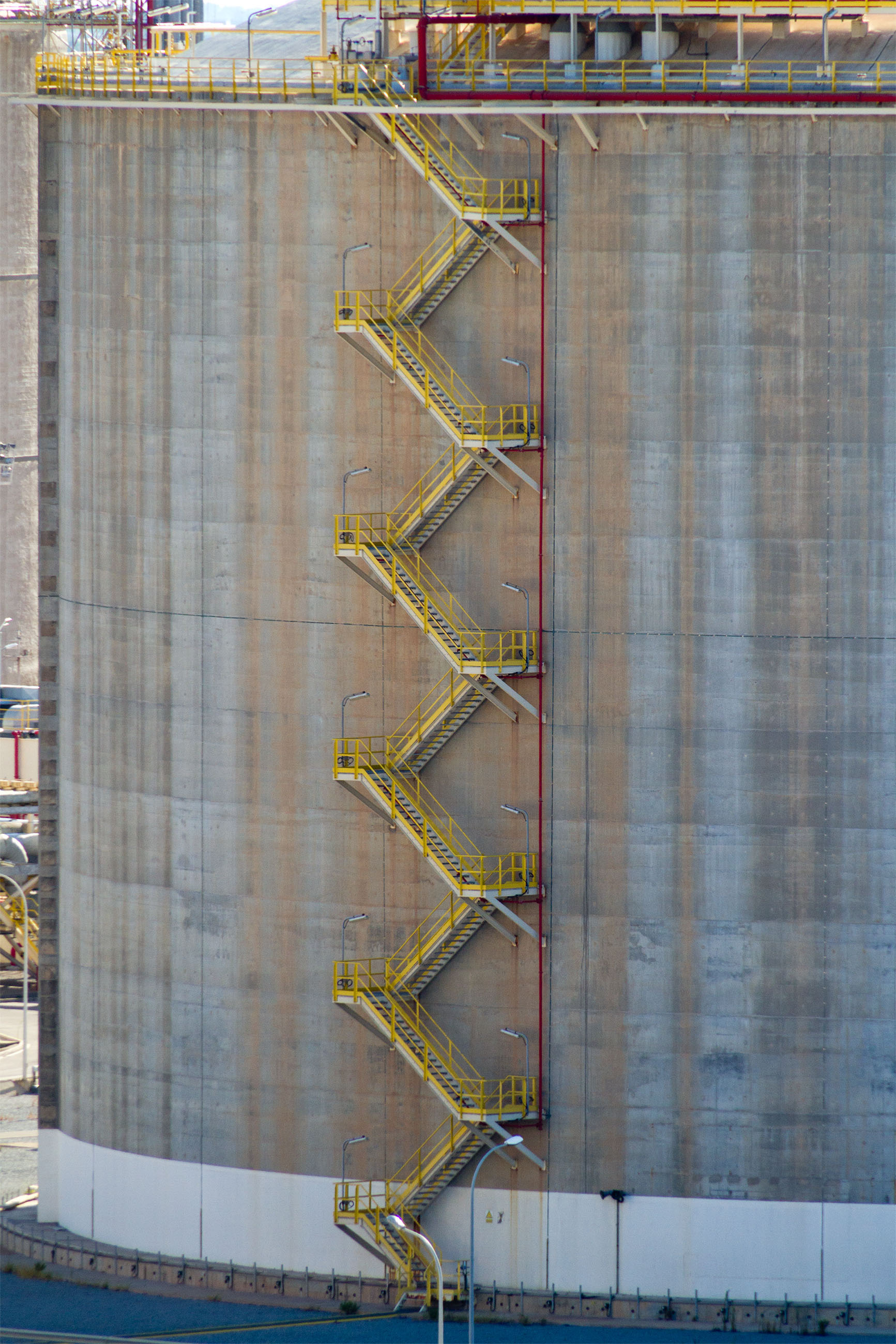 Stairs on an oil storage tank photo