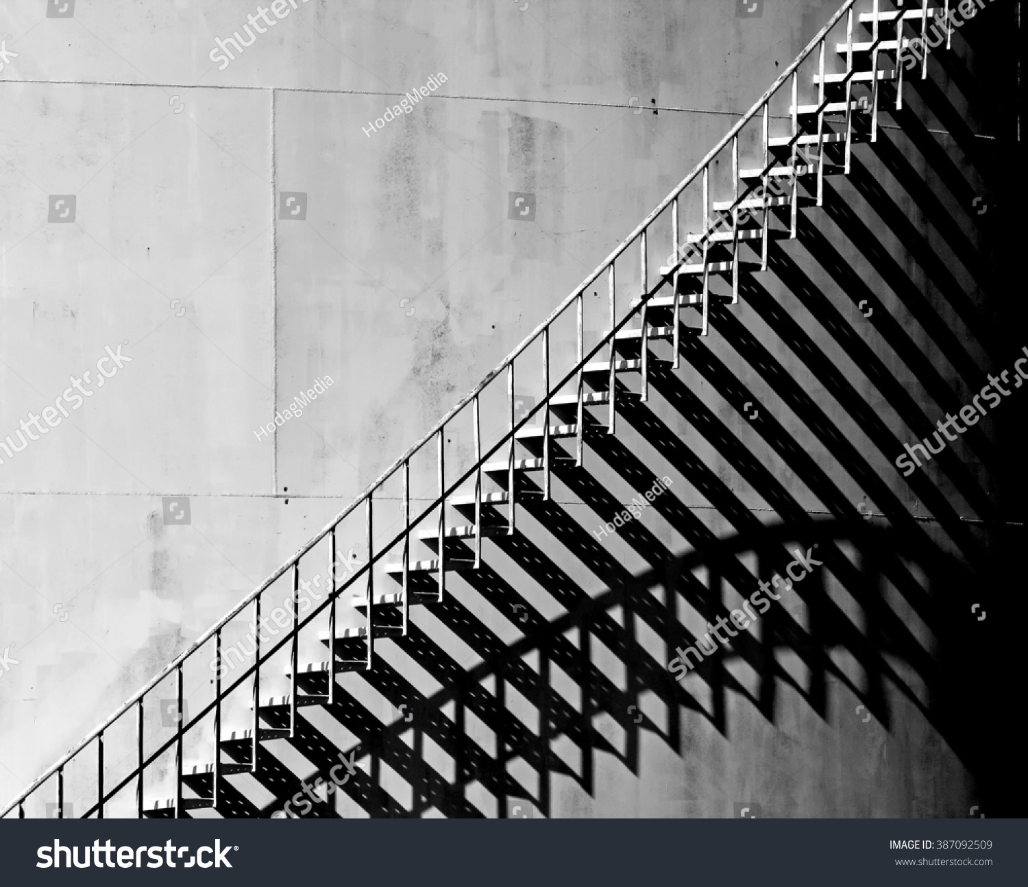 Stairway shadow photo