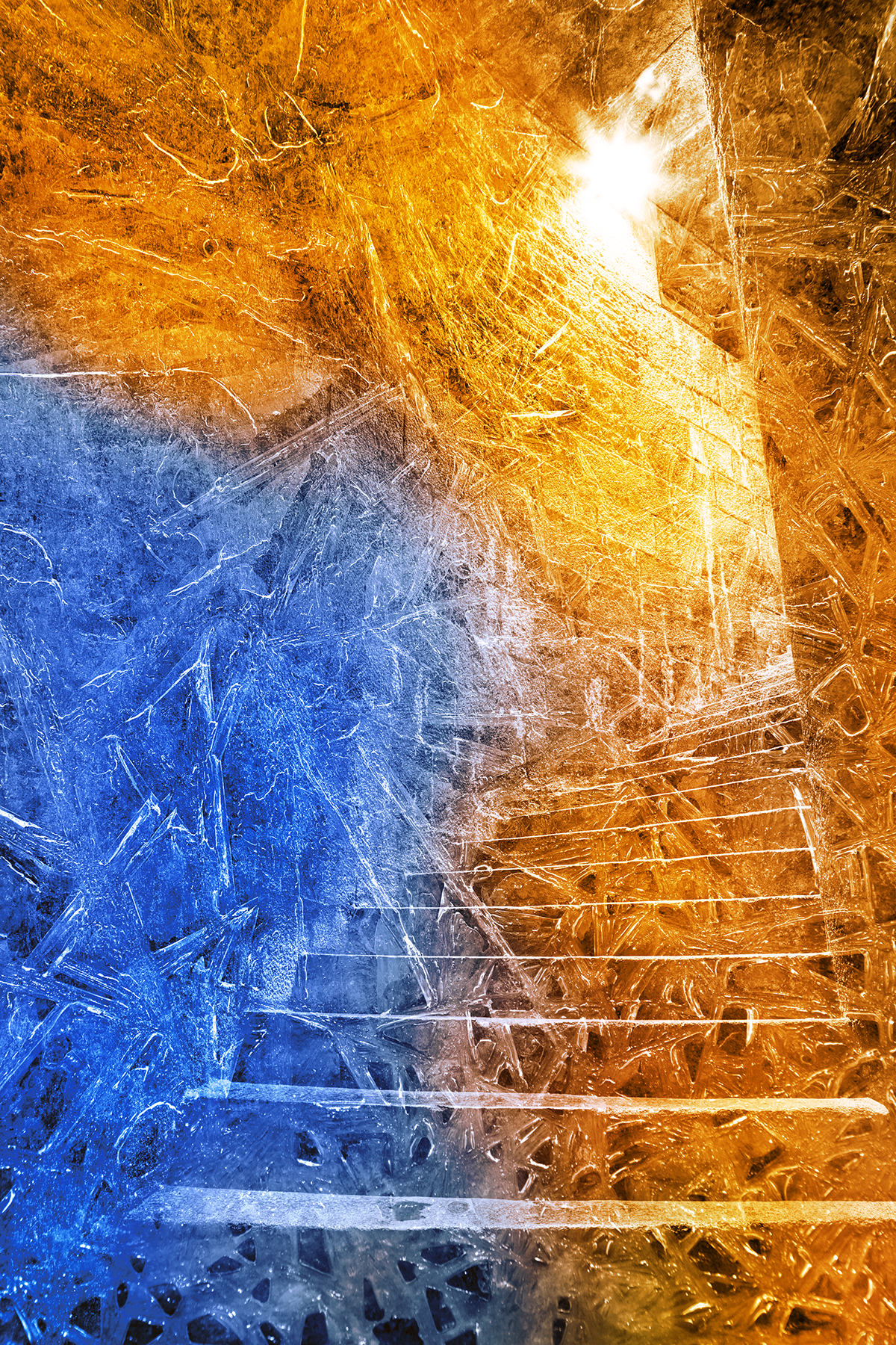 Stairway to Frozen Enlightenment, Abstract, Lights, Rough, Raw, HQ Photo