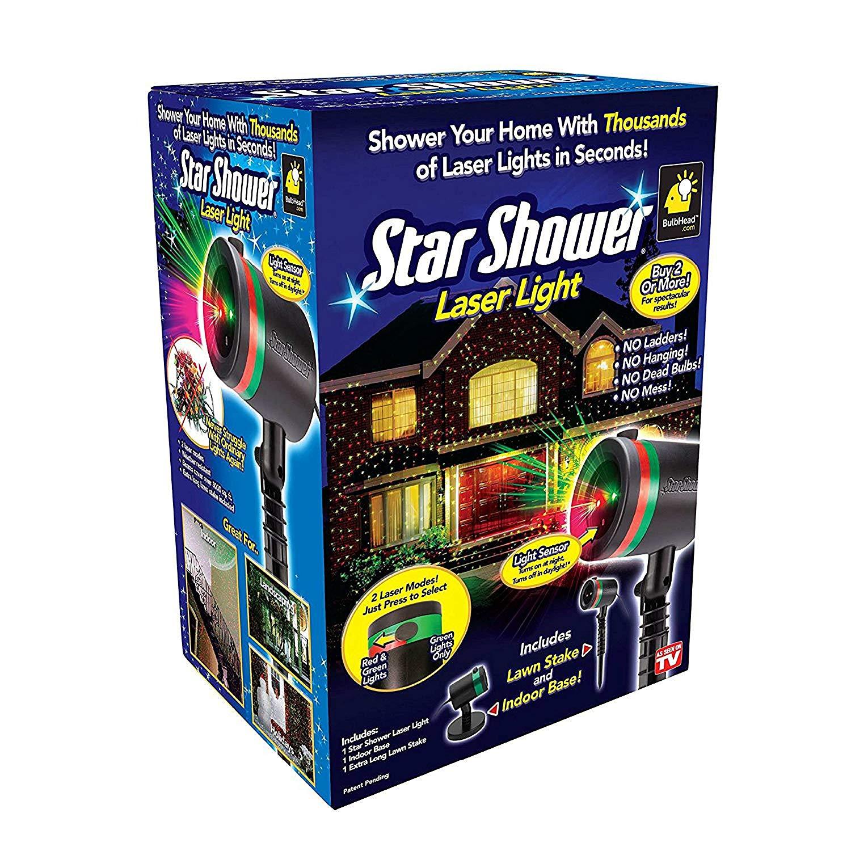 Amazon.com : Star Shower As Seen on TV Static Laser Lights Star ...
