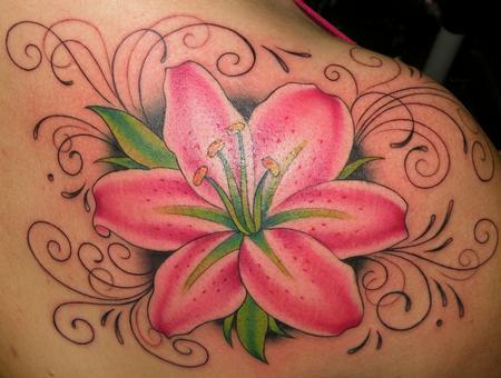 Stargazer lily tattoo , Stargazer lily tattoo