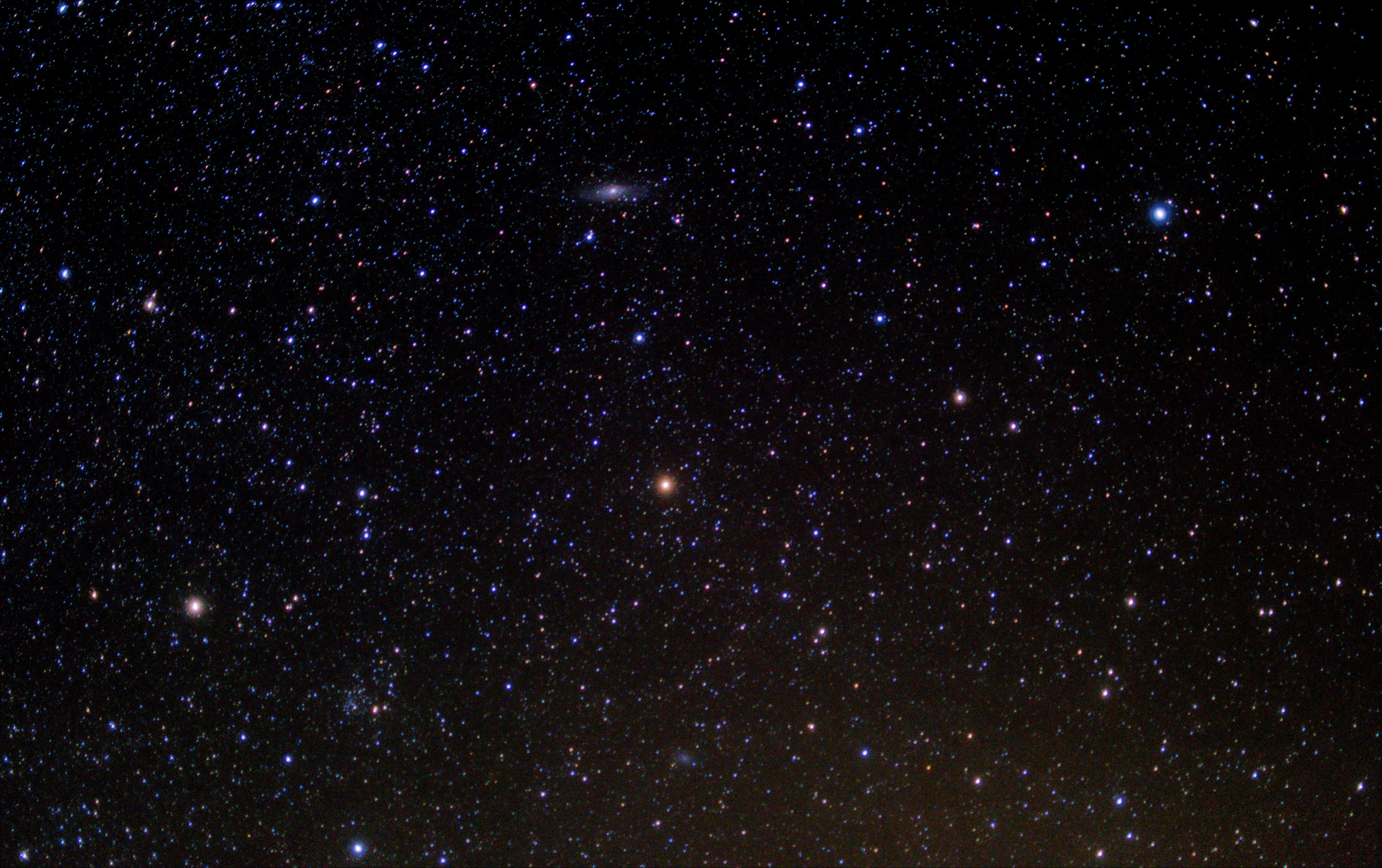 Starry sky at night, Starry sky at night