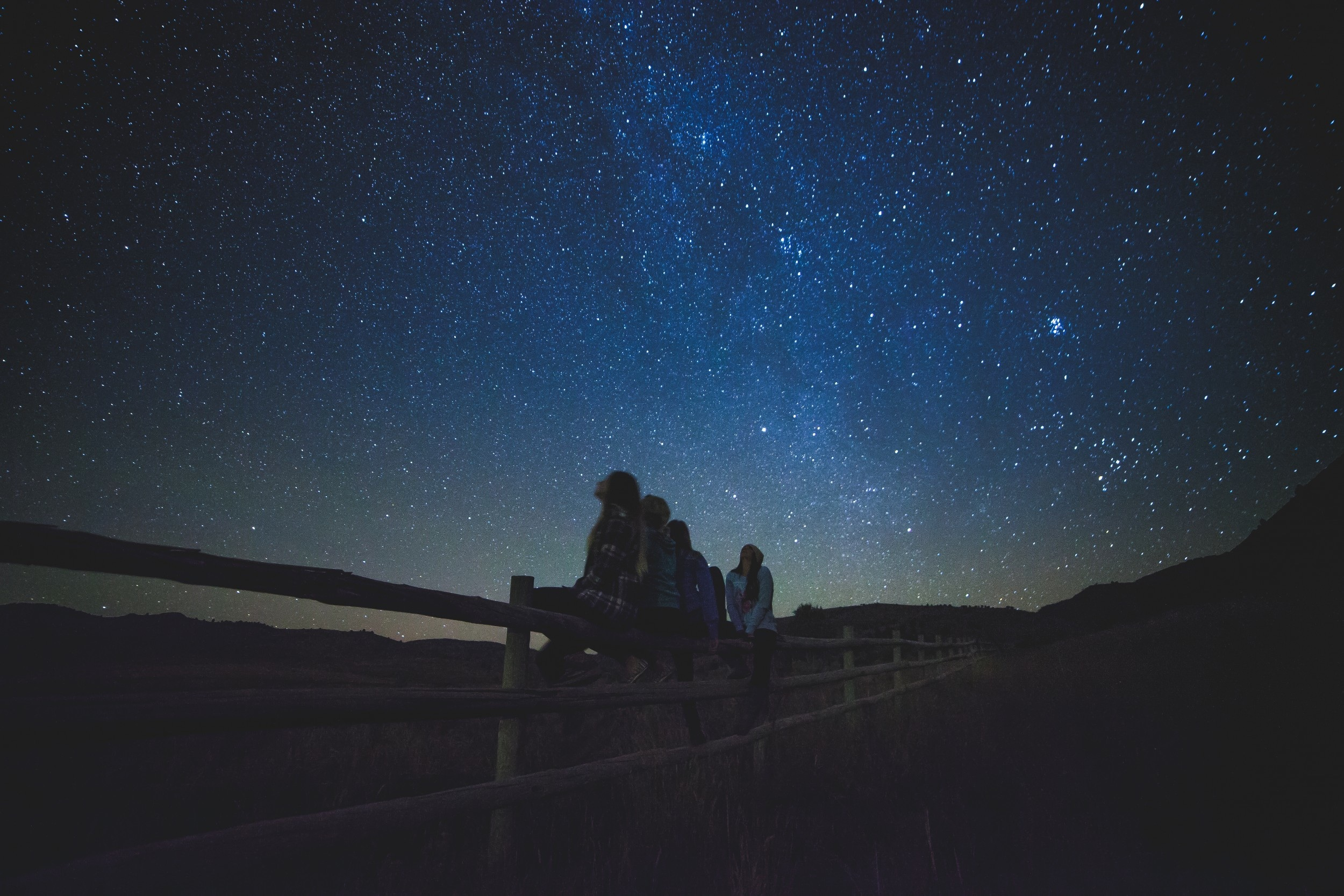 Stars, Dark, Friend, Girl, Light, HQ Photo