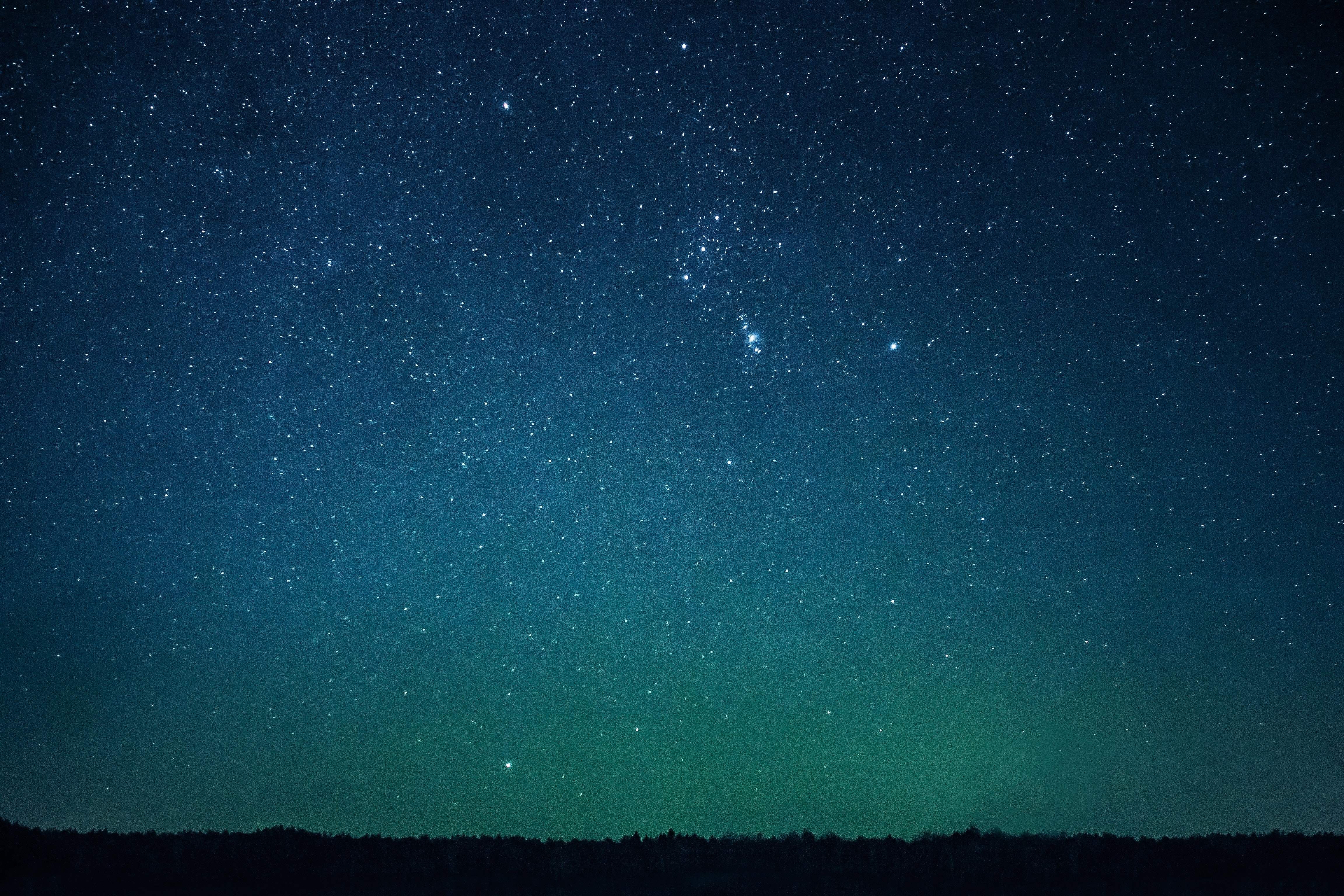 Stars in night sky photo