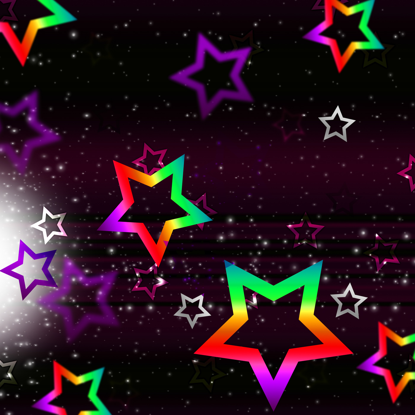 Stars space background shows heavenly bodies and brightness photo