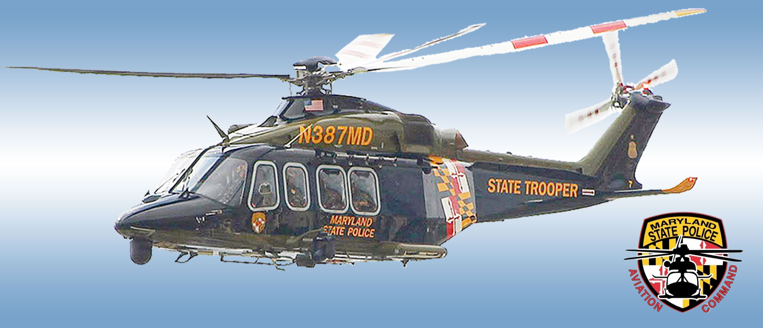 State police helicopter photo