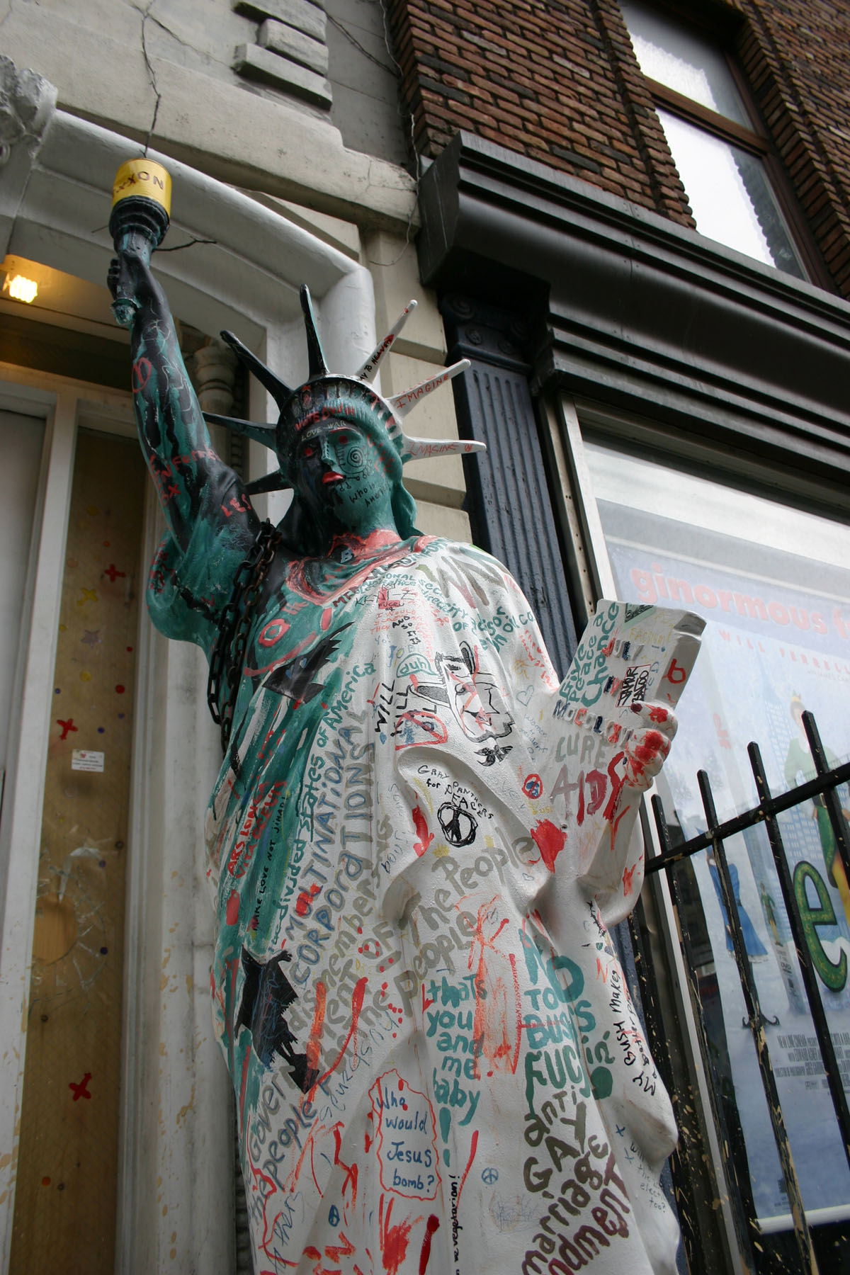 Stature of liberty, Graffiti, Newyork, Sculpture, Small, HQ Photo