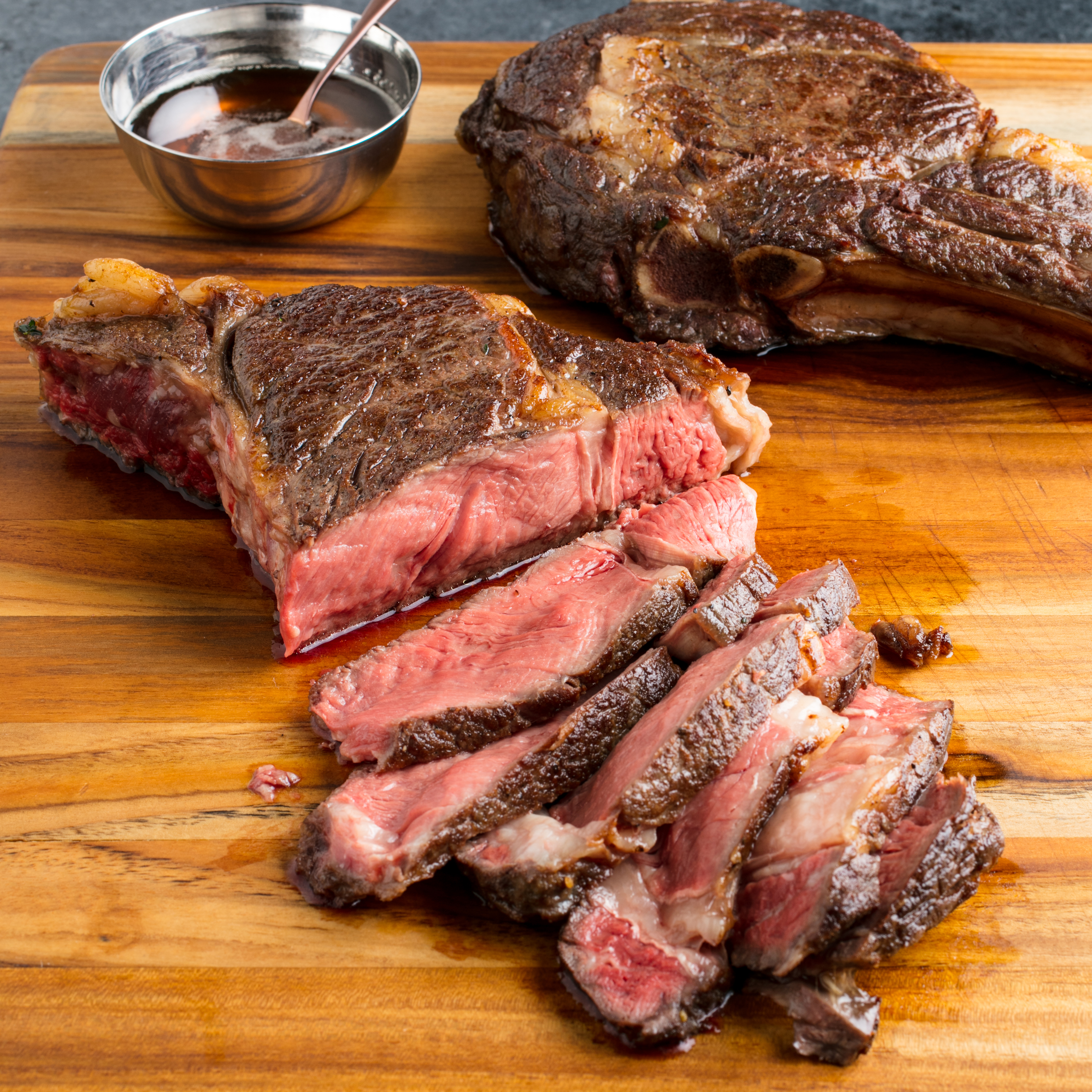 Sous Vide Butter-Basted Thick-Cut Rib-Eye Steaks - Cook's ...