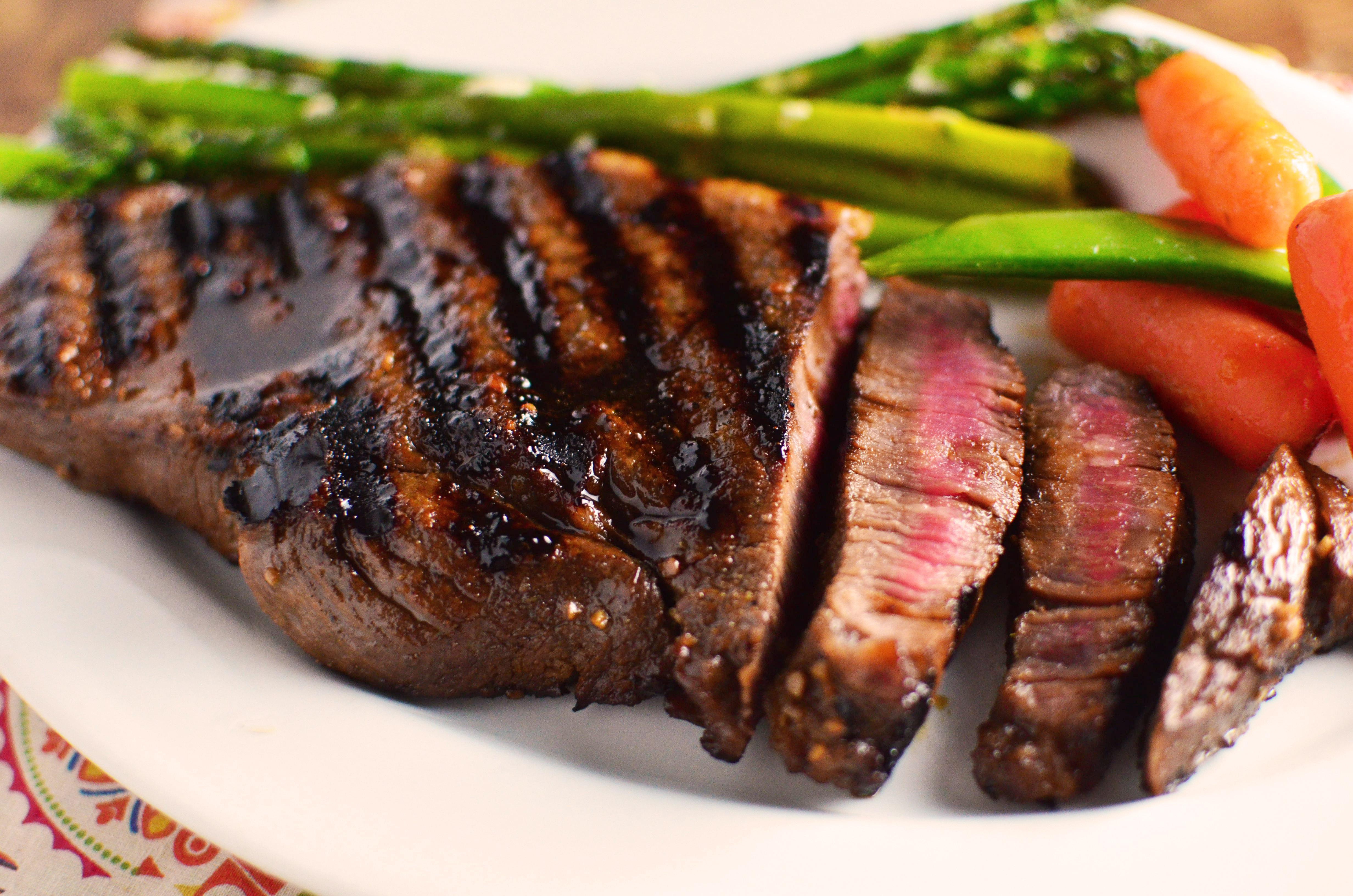 Teriyaki Marinated Steak - Simple, Sweet & Savory
