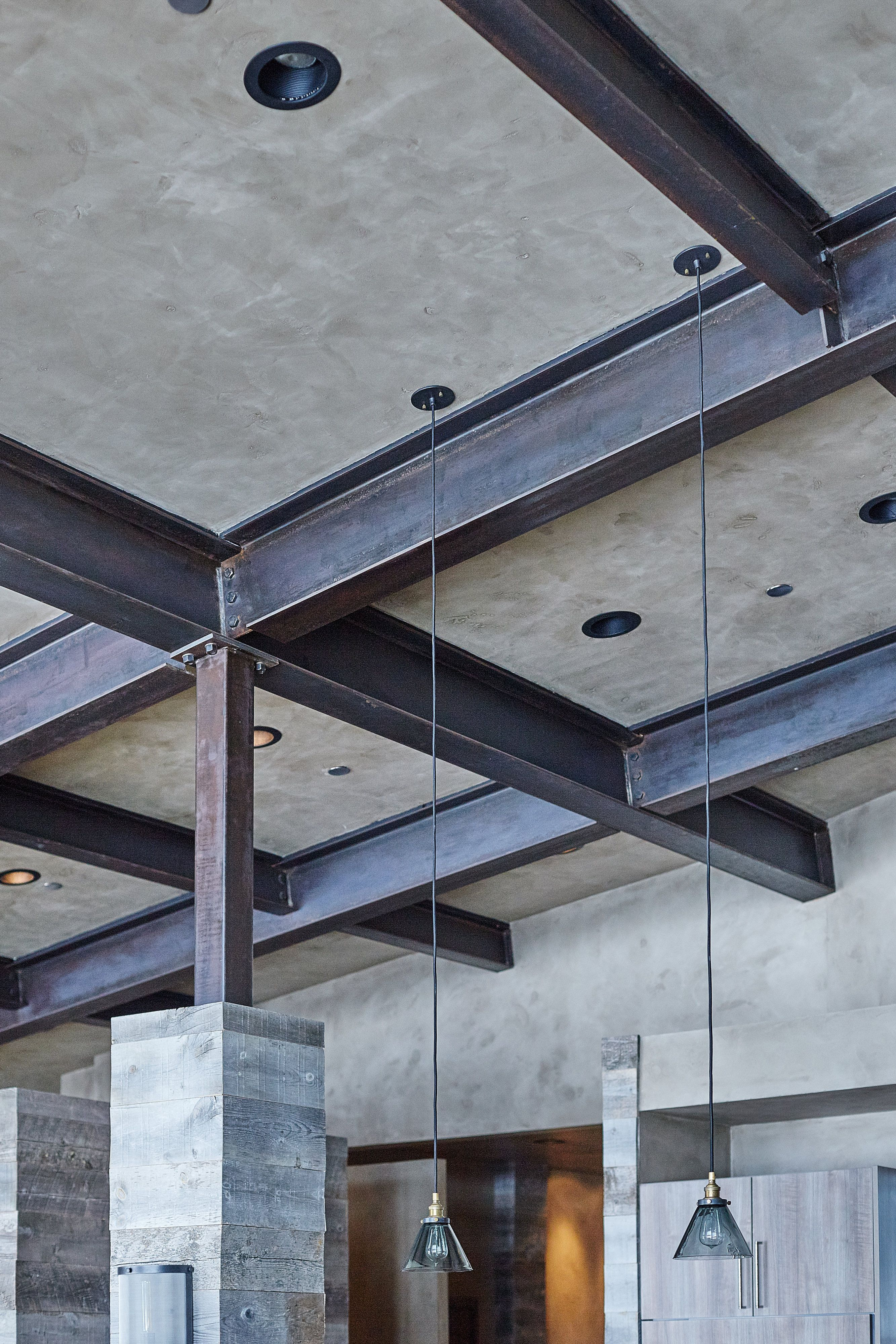 PIN ONE: Large metal beams that have been put in place for the ...