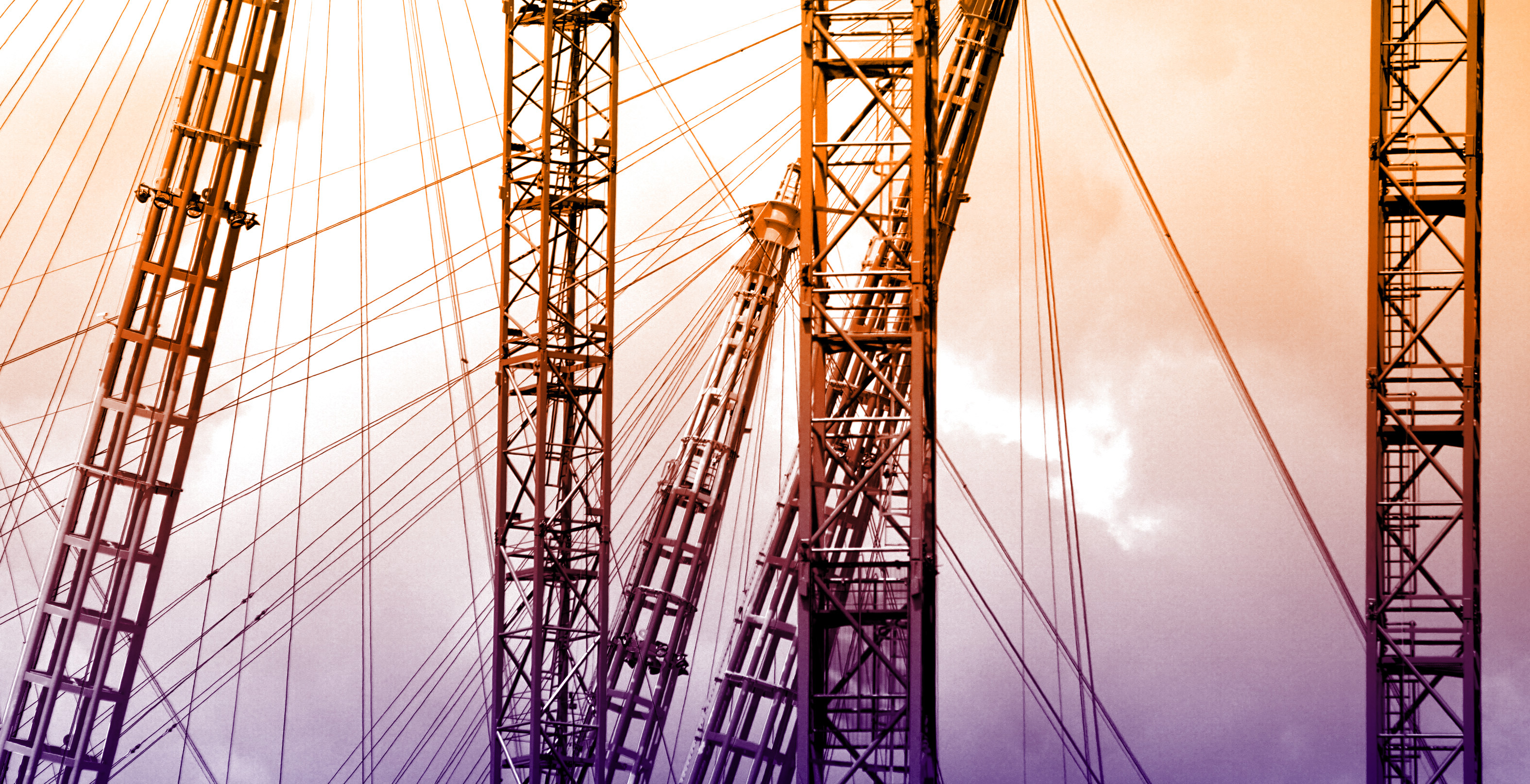 Steel cables - colorized photo