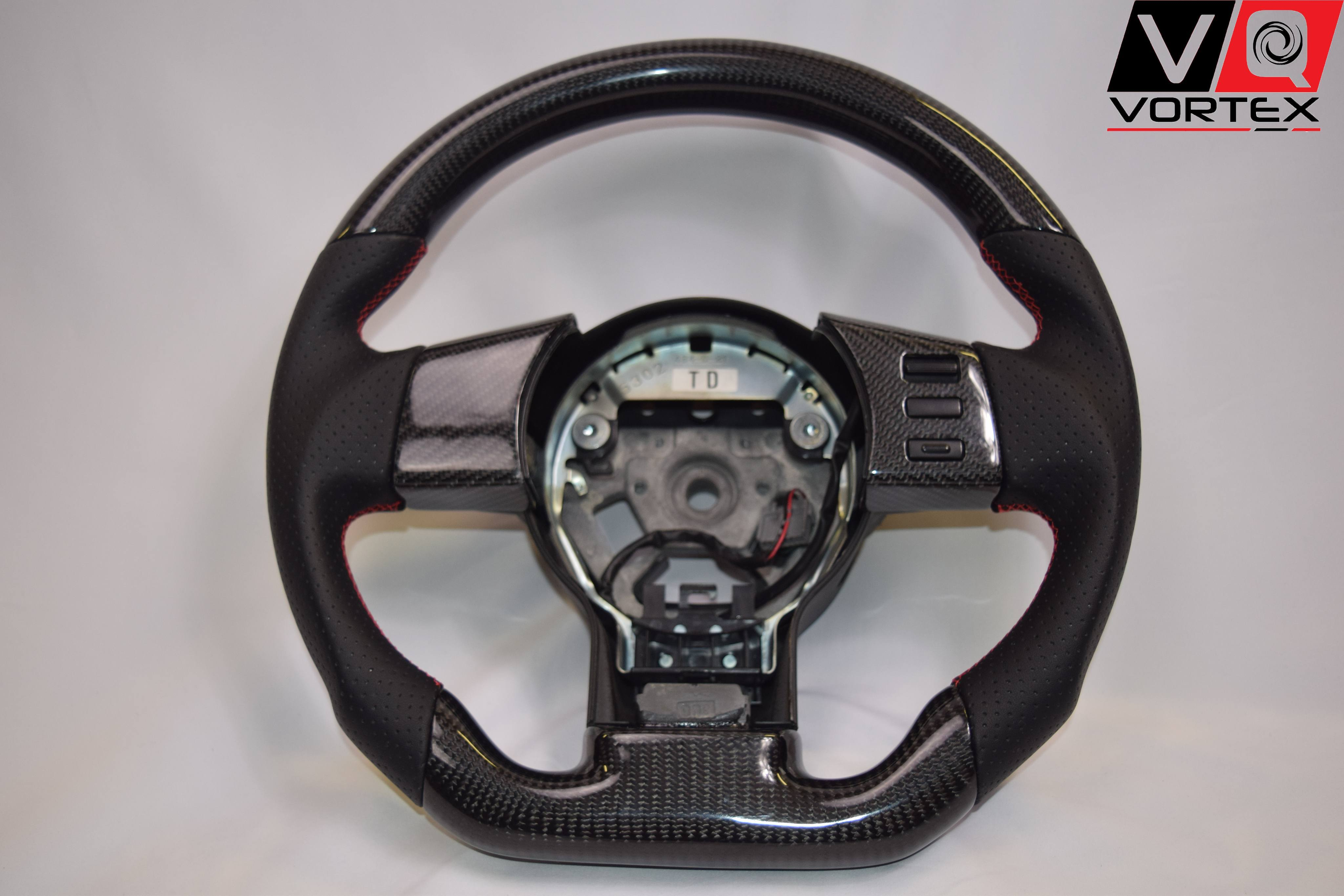 Nissan 350Z (2003-2008) Carbon Fiber Flat Bottom Steering Wheel – VQ ...