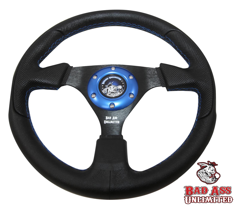 BAU Black Leather Steering Wheel