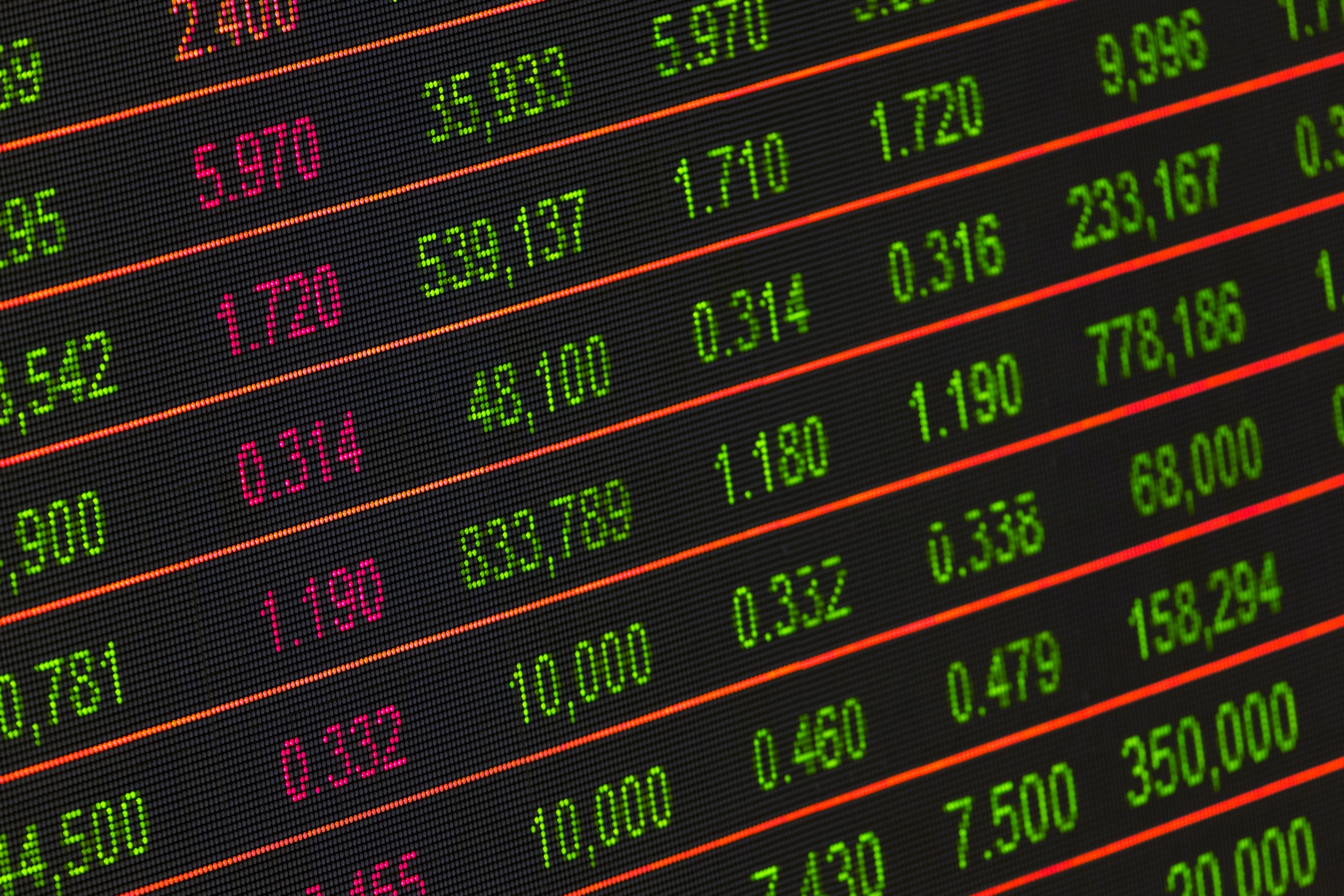 Stock Exchange Board, Bright, Growth, Technology, Stock market, HQ Photo