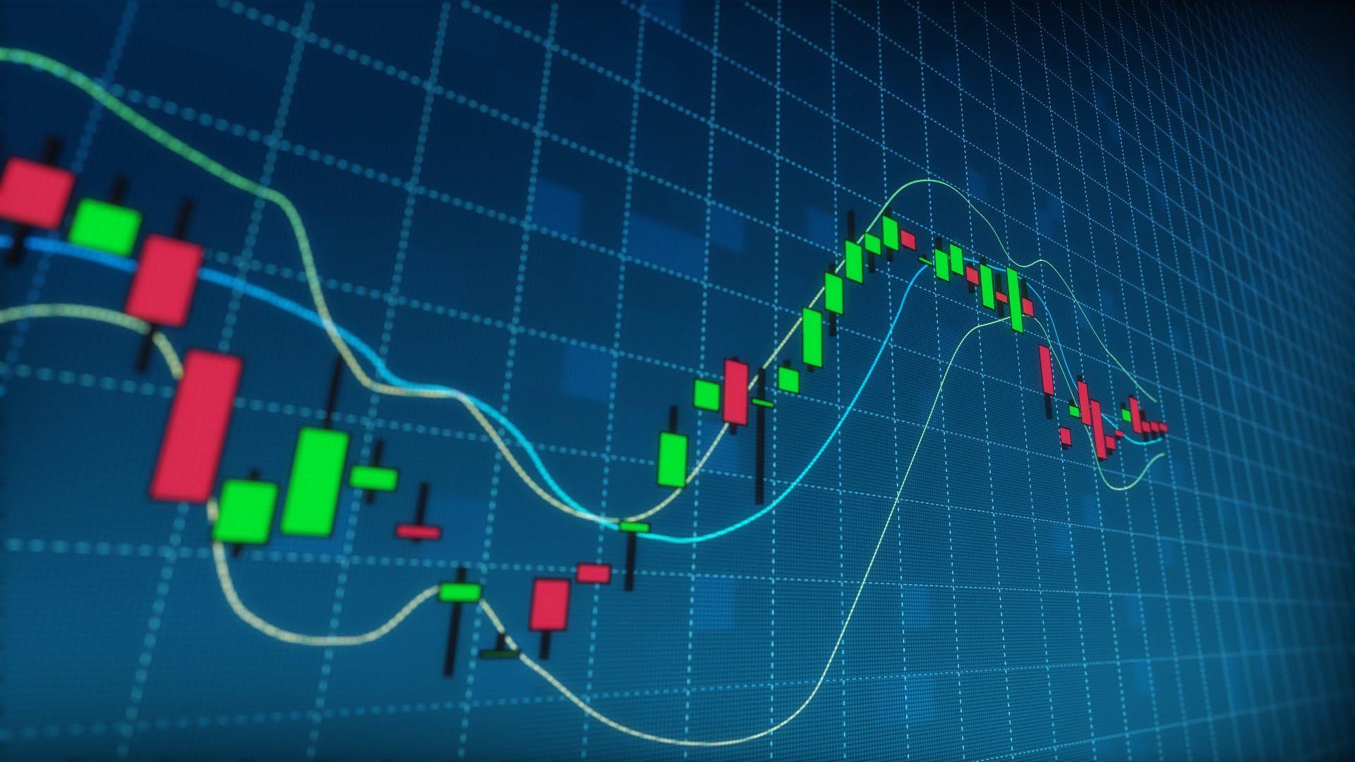 Stock Market Candlestick Data Graph - YouTube