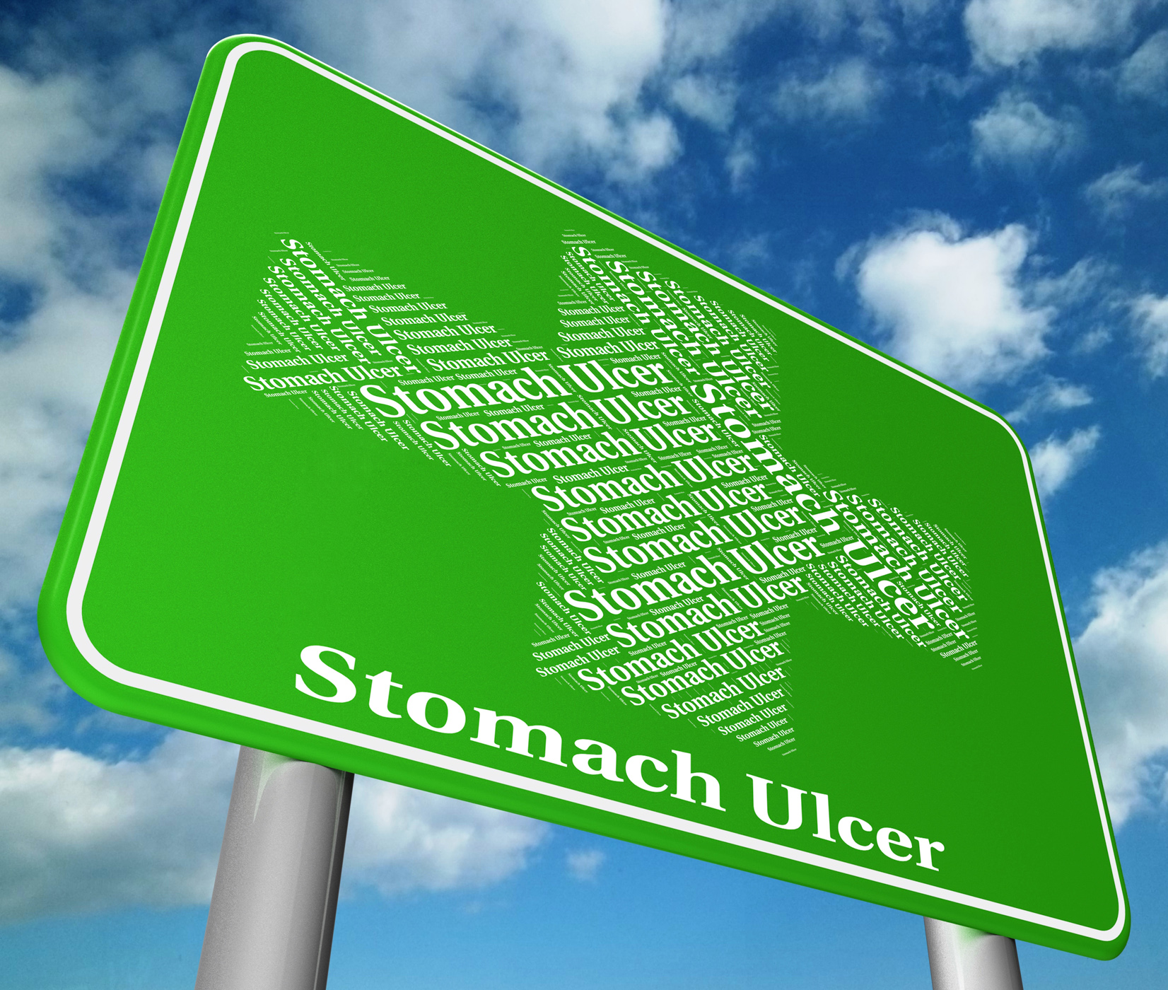 Stomach ulcer indicates ill health and abdomens photo