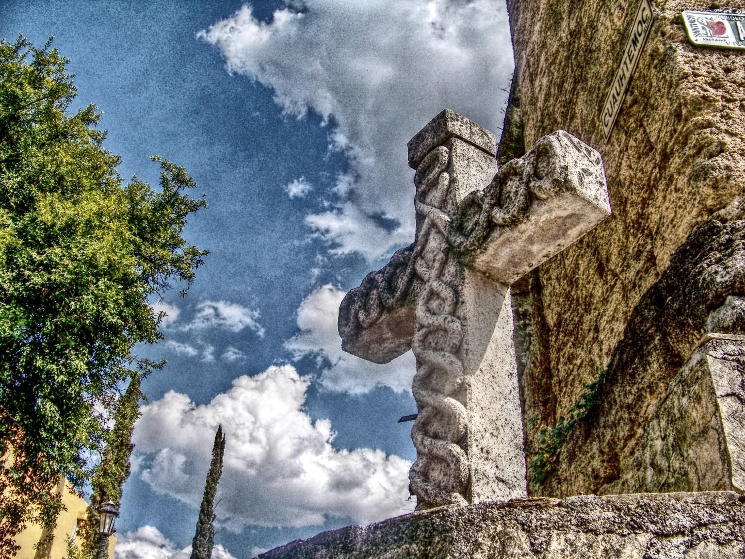 Stone cross photo