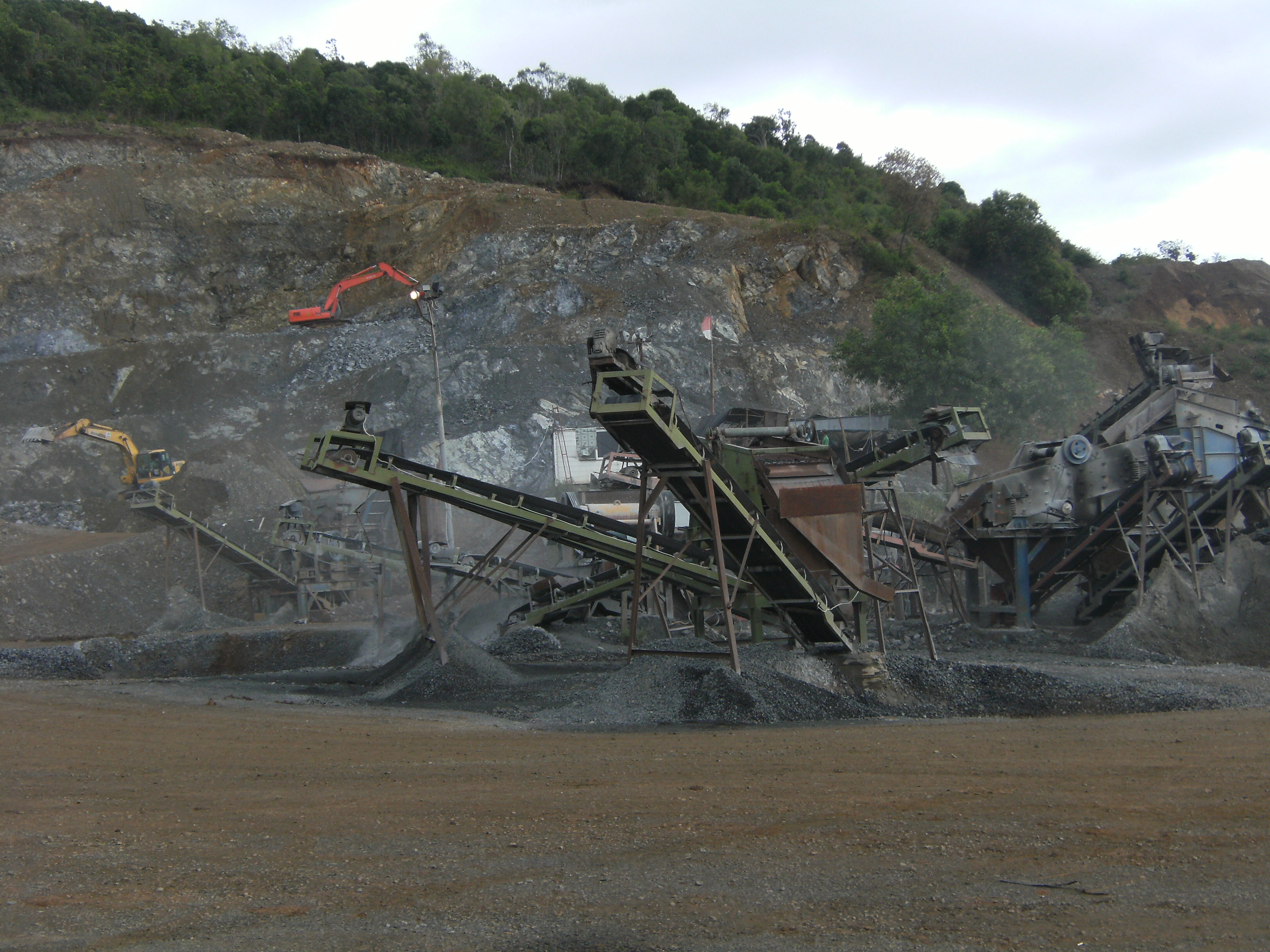 Stone crusher, Crusher, Hill, Industrial, Mining, HQ Photo