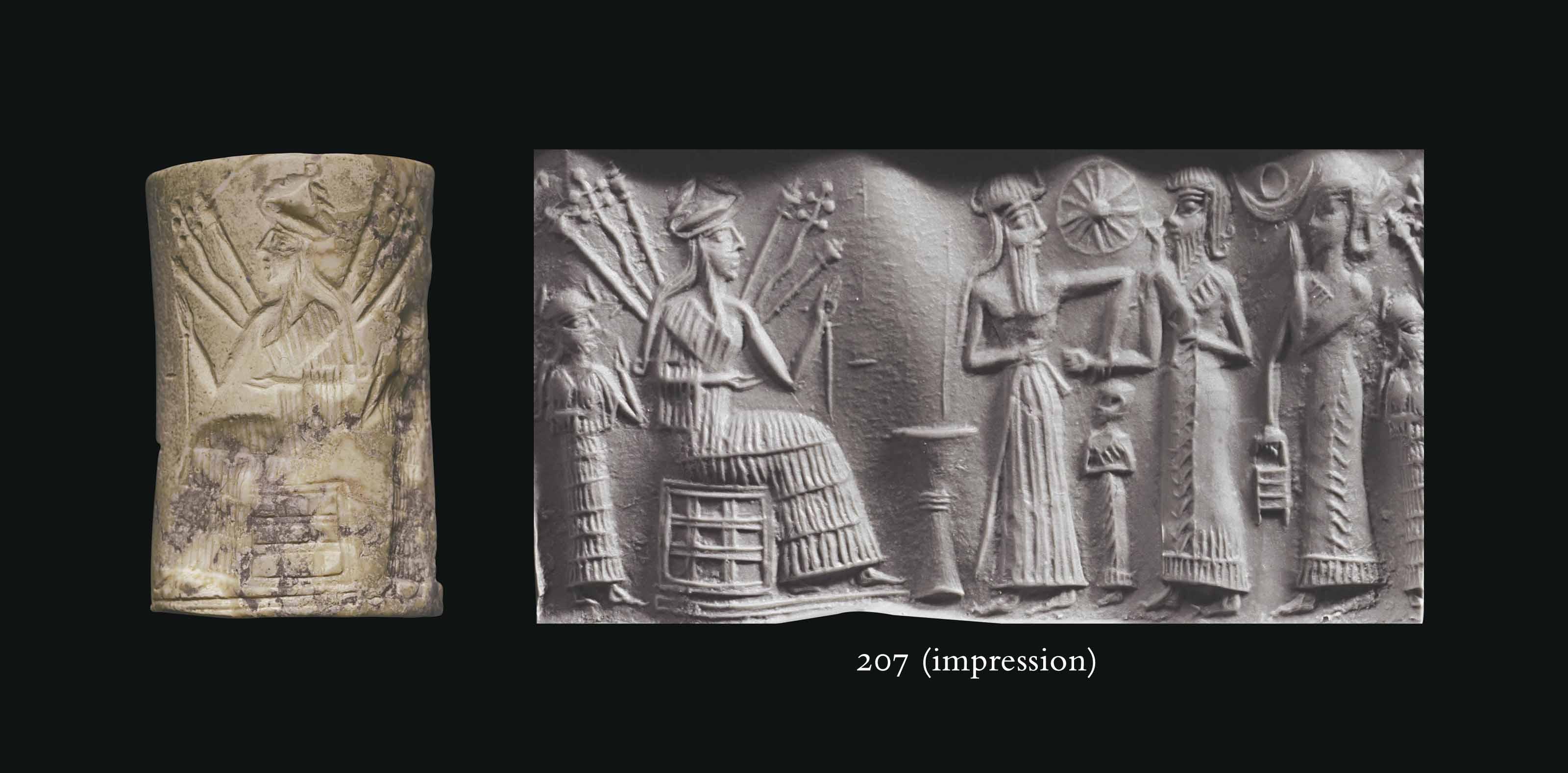 AN AKKADIAN WHITE STONE CYLINDER SEAL | CIRCA 2300-2159 B.C. | seal ...