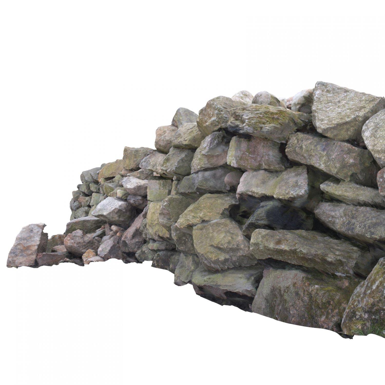 Stone wall 3D Model in Miscellaneous 3DExport