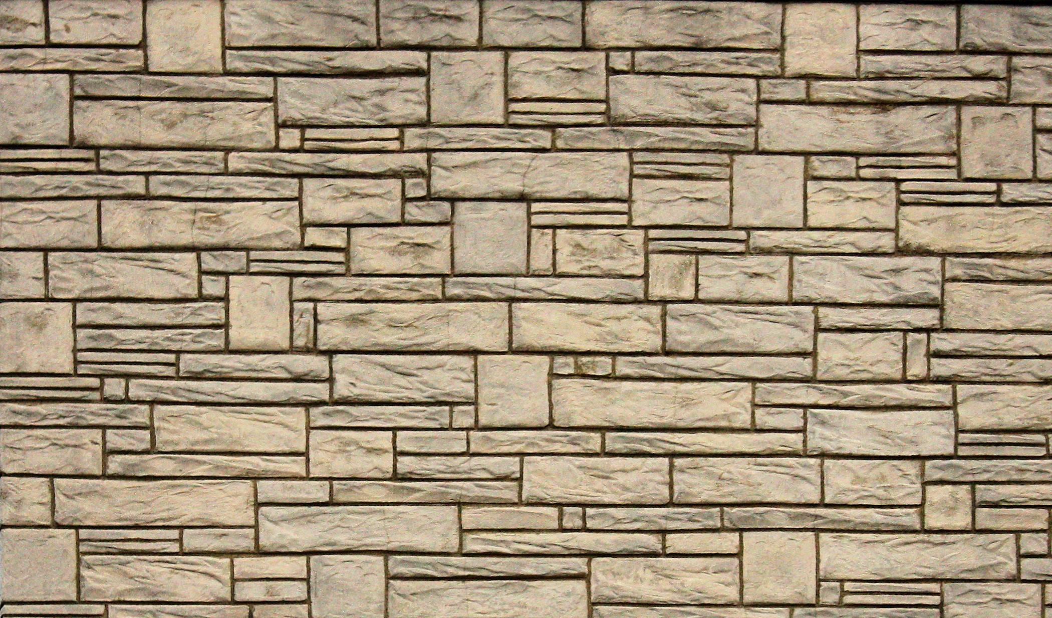 Stone Wall Wallpaper Background - Round Designs