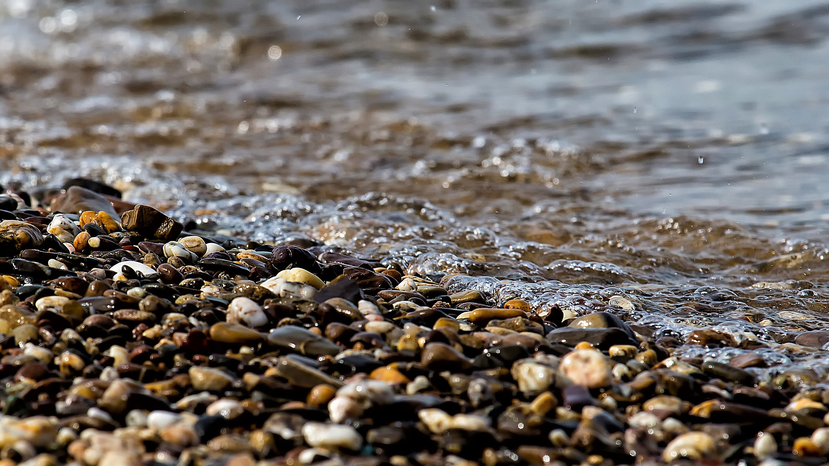 Stones Near the Beach Seashore during Day Time, Stones, Seaside, Water, Wave, HQ Photo