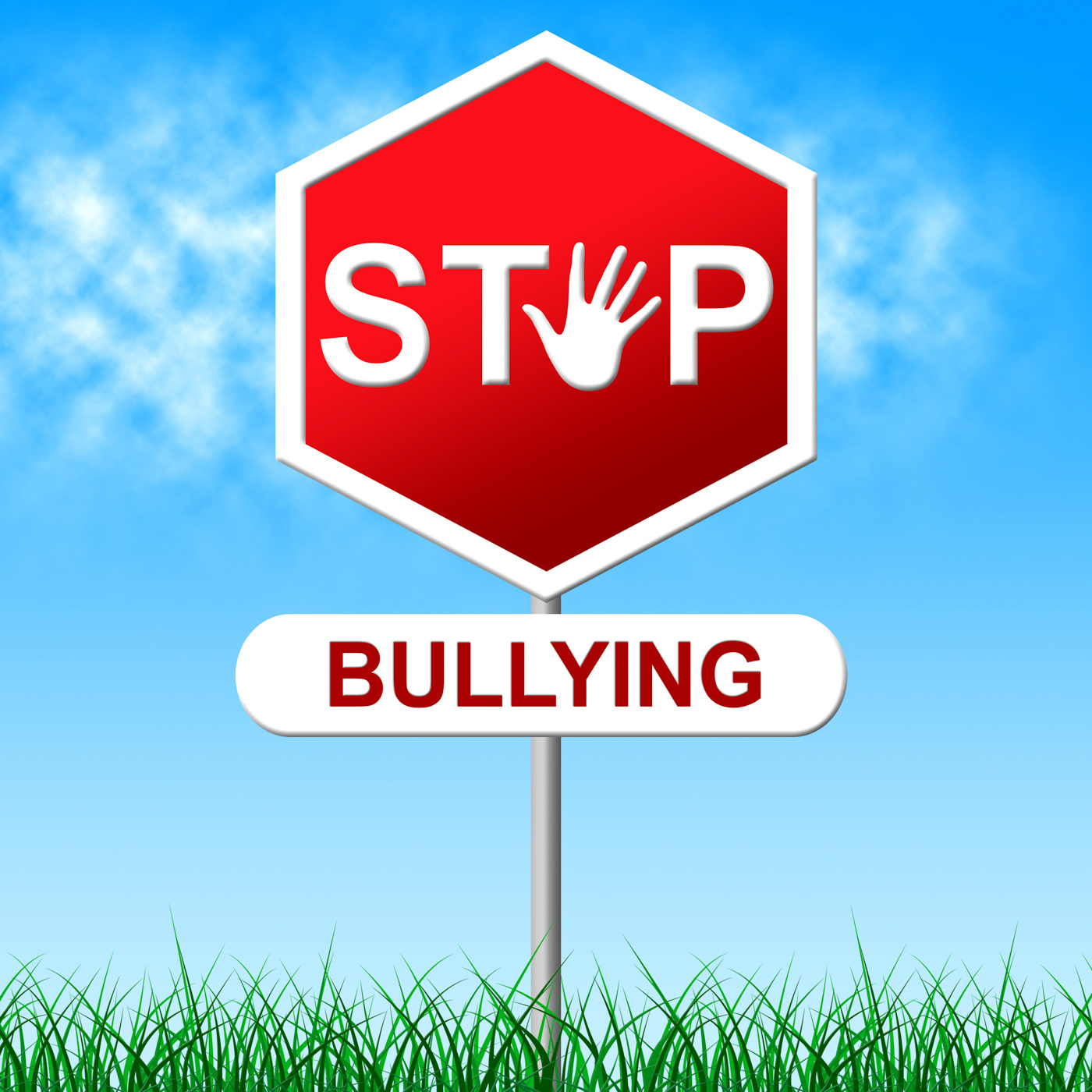 Stop Bullying Indicates Warning Sign And Caution, Bully, Prohibit, Warning, Tyrannize, HQ Photo