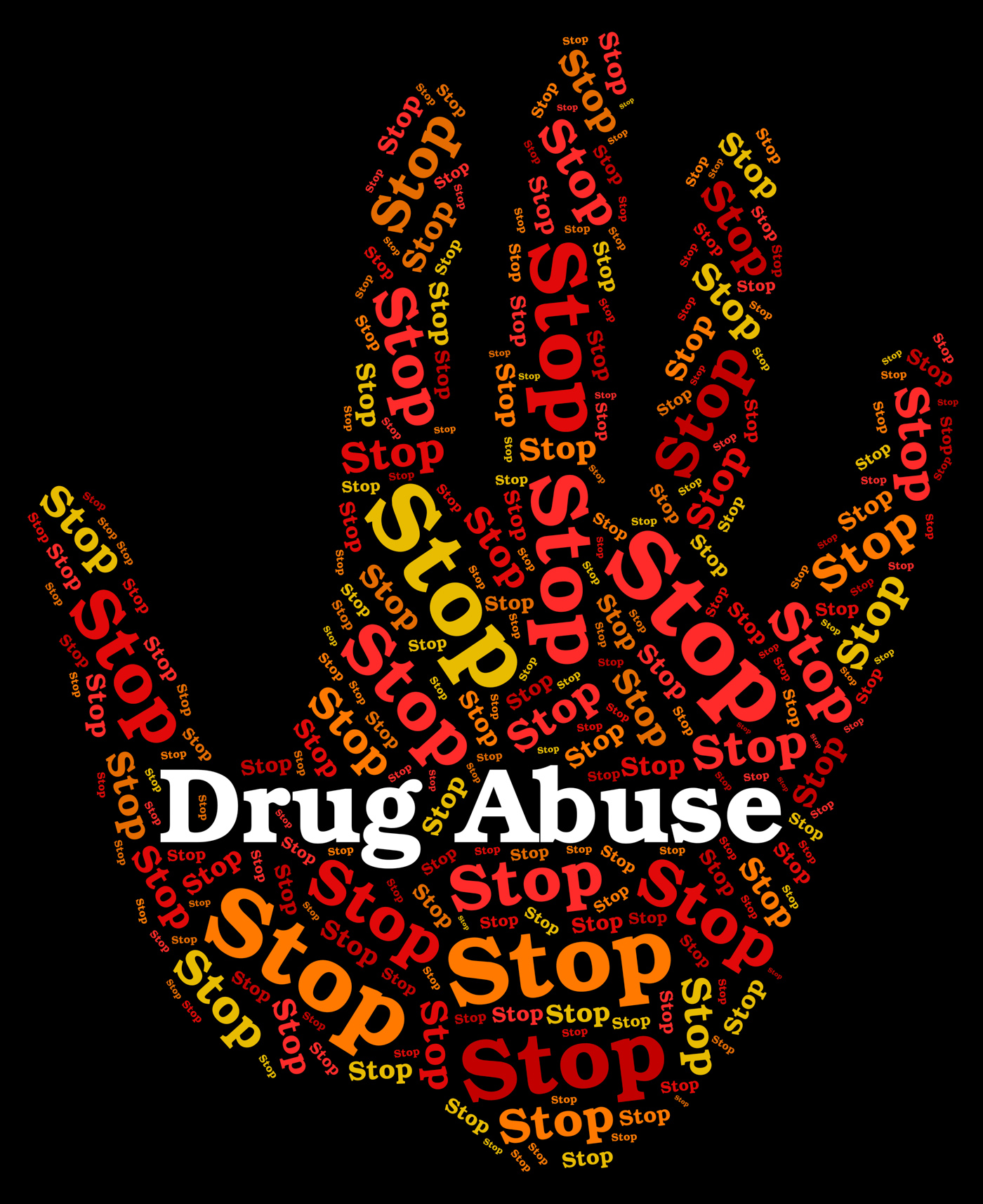 Stop drug abuse means abused dependence and addiction photo