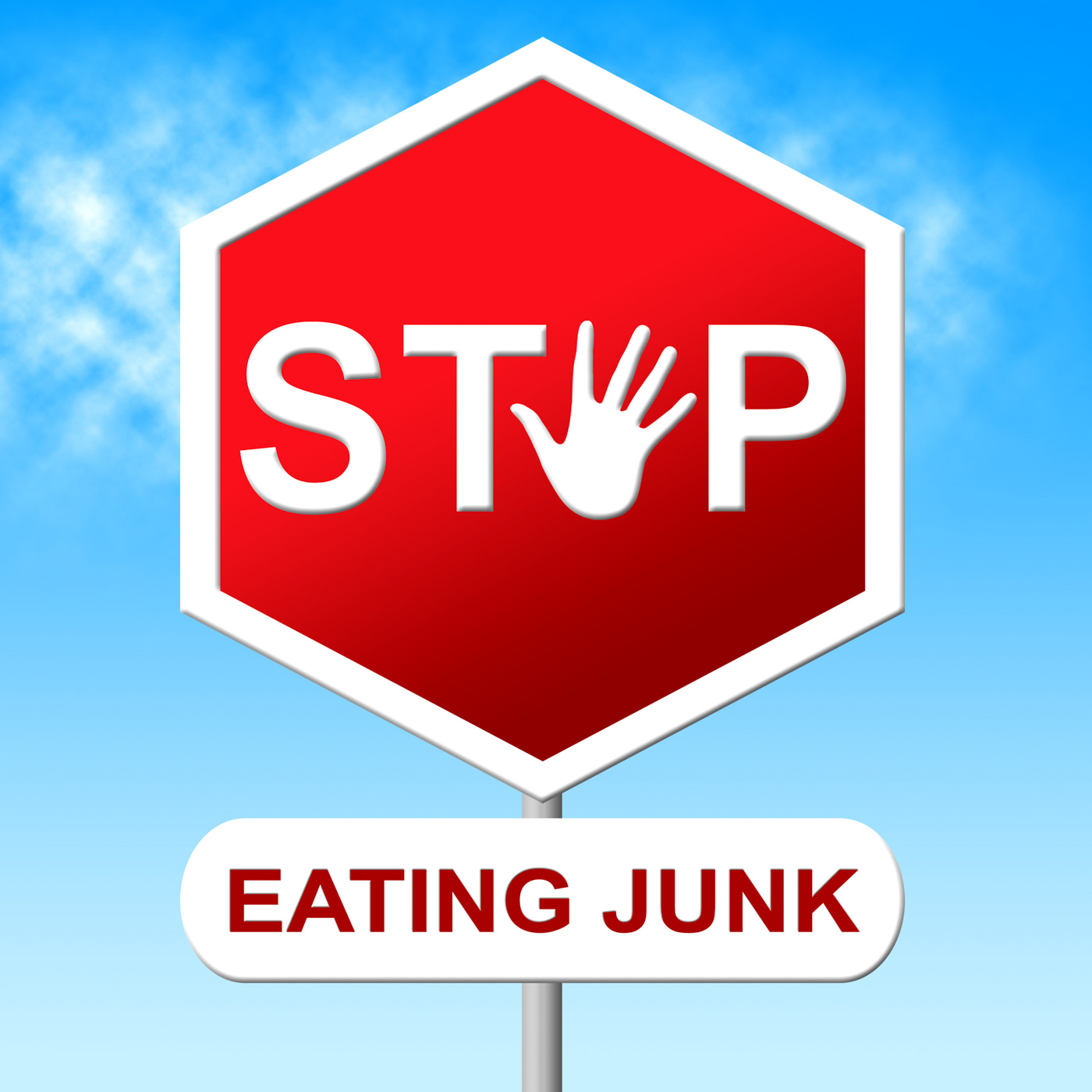 Stop eating junk means unhealthy food and danger photo