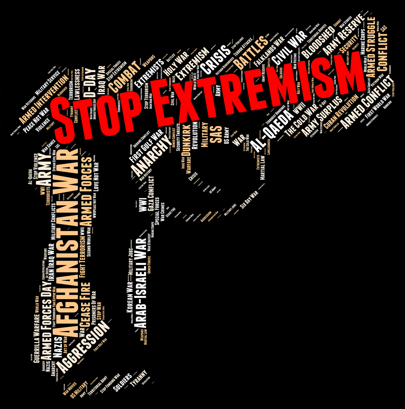 Stop Extremism Indicates Warning Sign And Activism, Text, Sectarianism, Stop, Stopped, HQ Photo