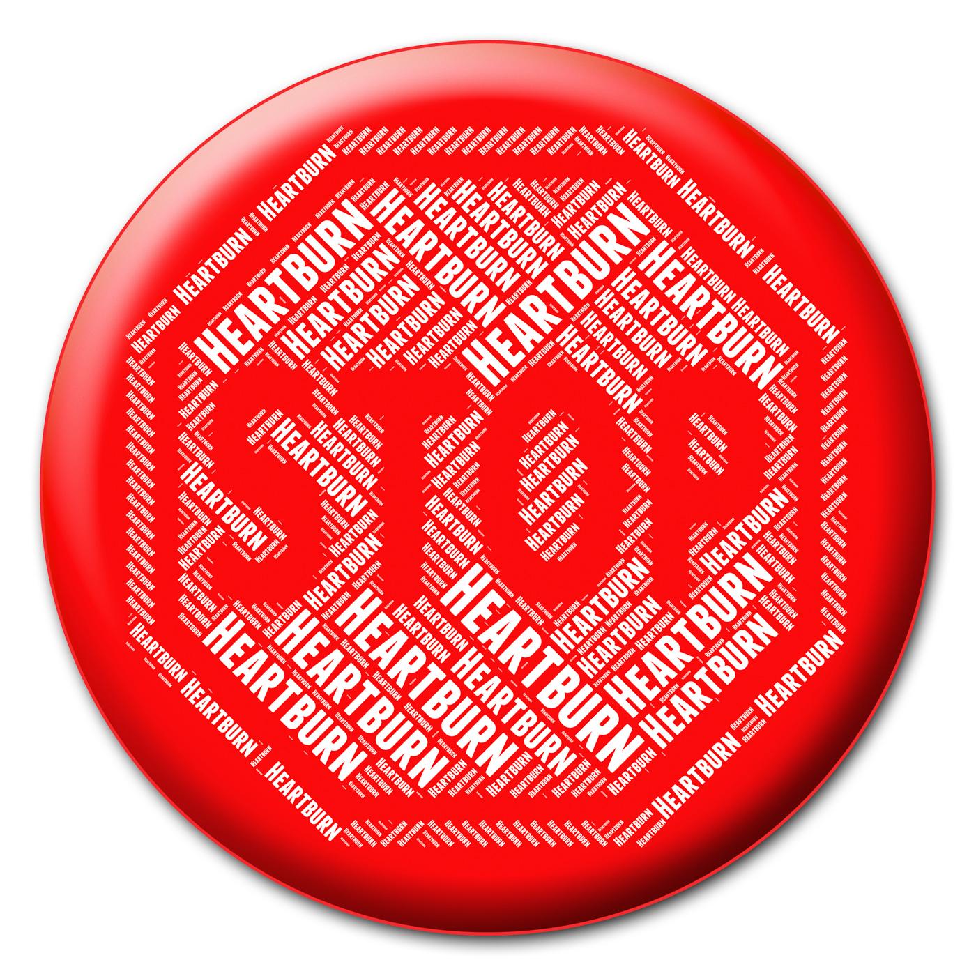 Stop heartburn indicates acid indigestion and acidity photo