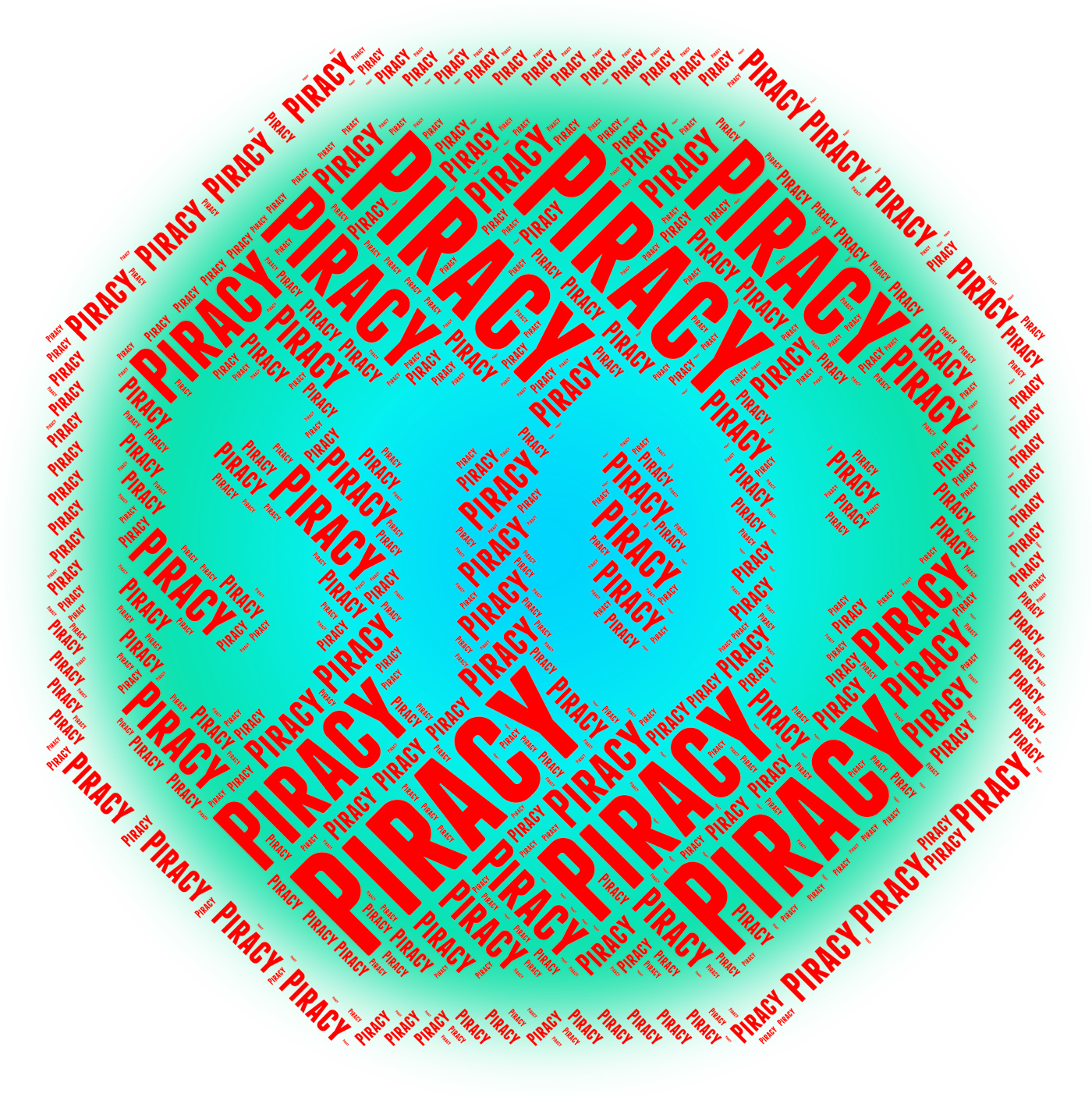 Stop piracy indicates copy right and control photo