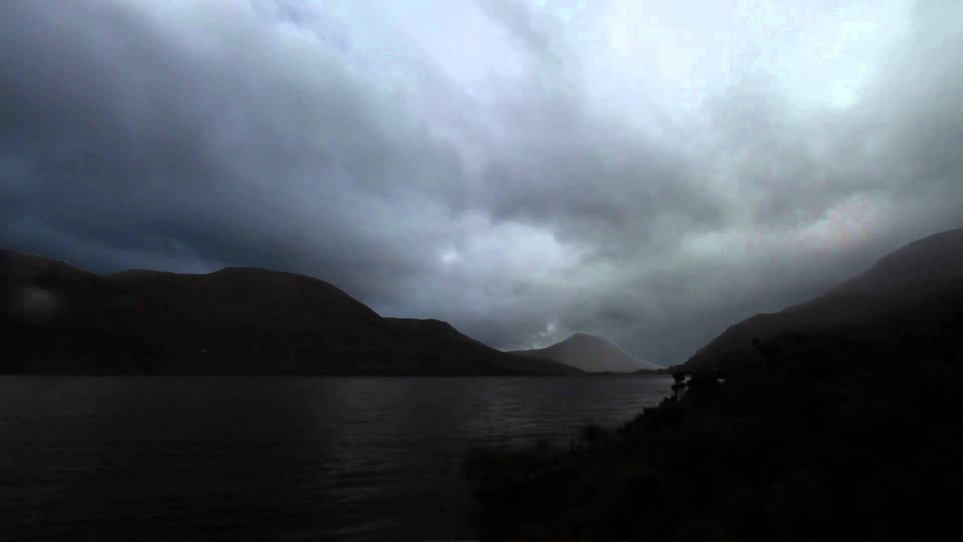 ROADS, storm, lightning, mountains, ireland, connemara, lightning ...