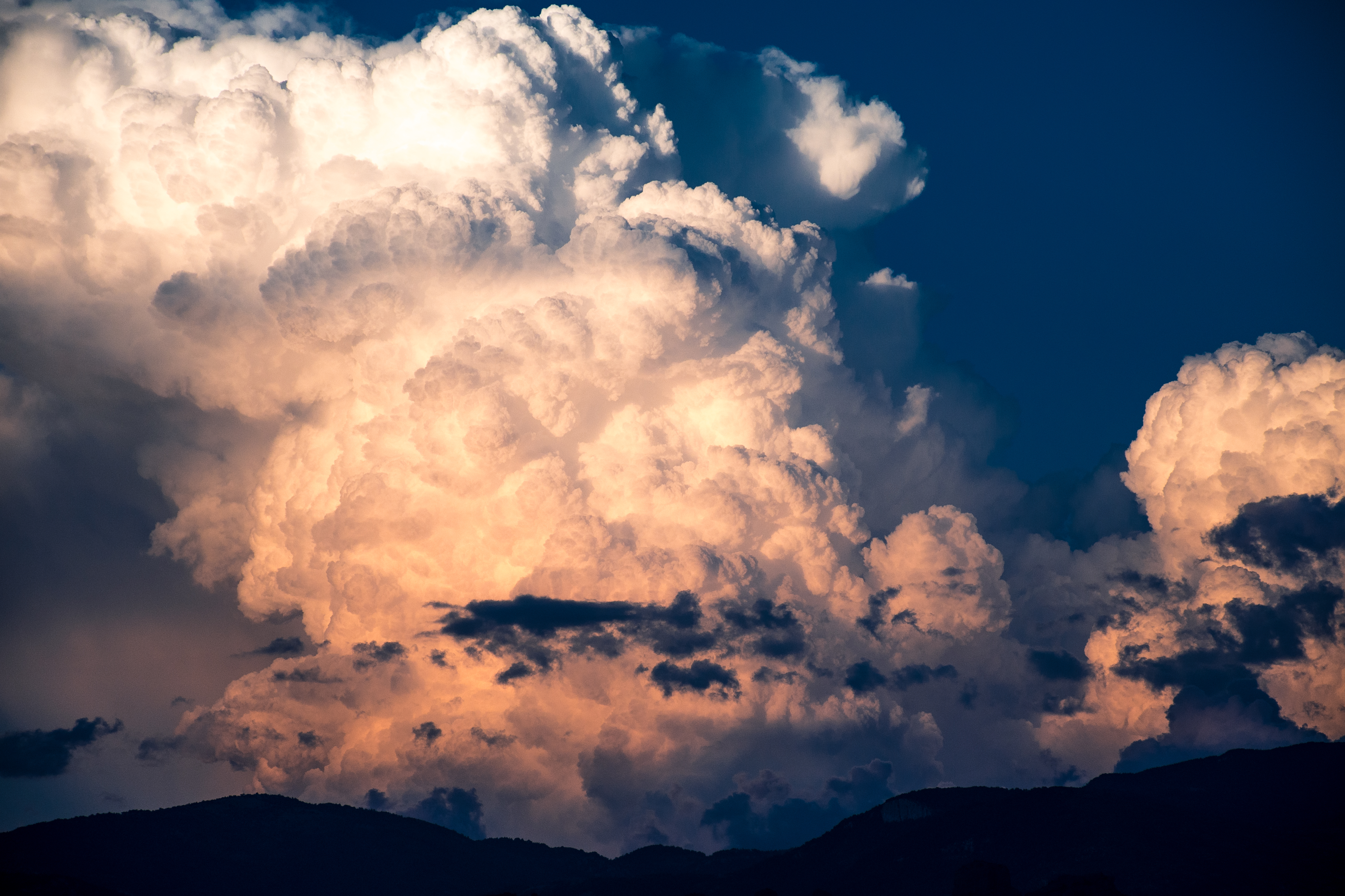 Storm clouds at dusk photo